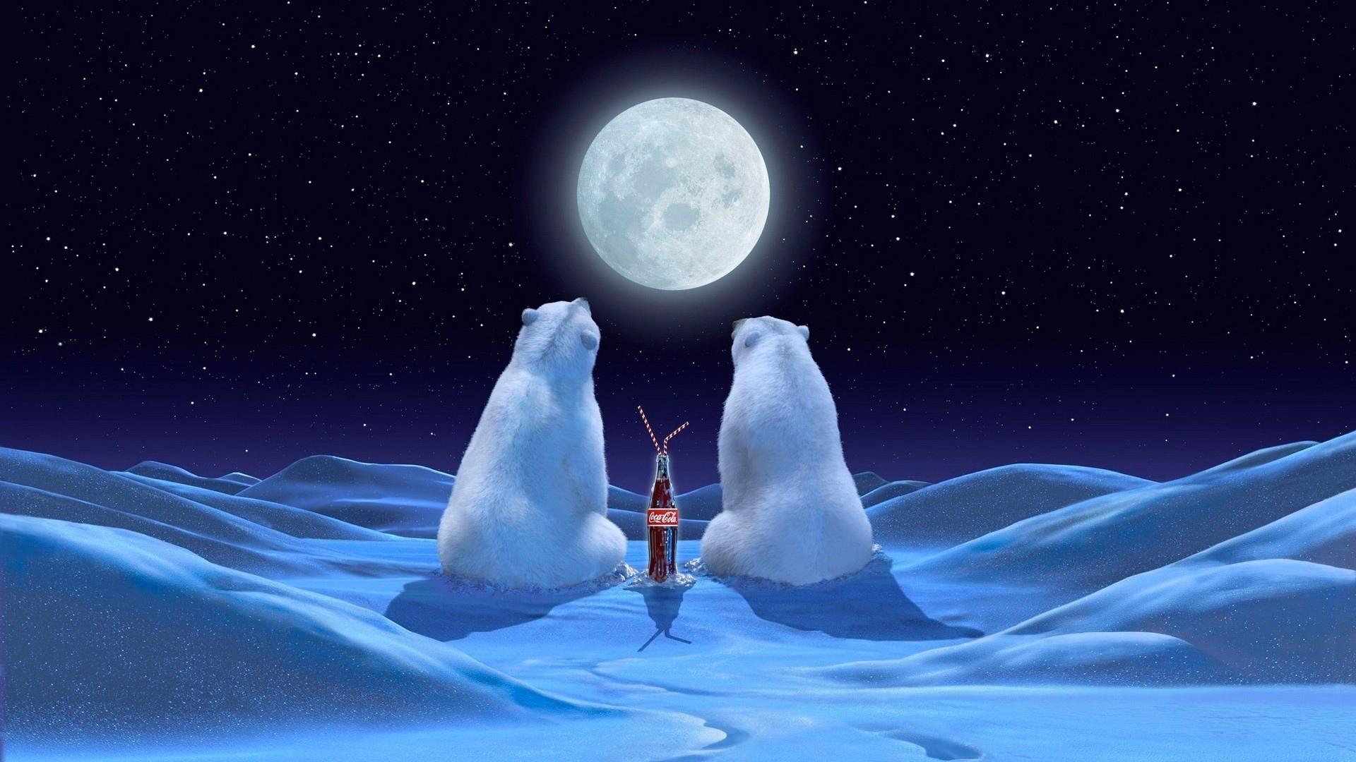 20886 скачать обои Бренды, Животные, Медведи, Кока-Кола (Coca-Cola) - заставки и картинки бесплатно