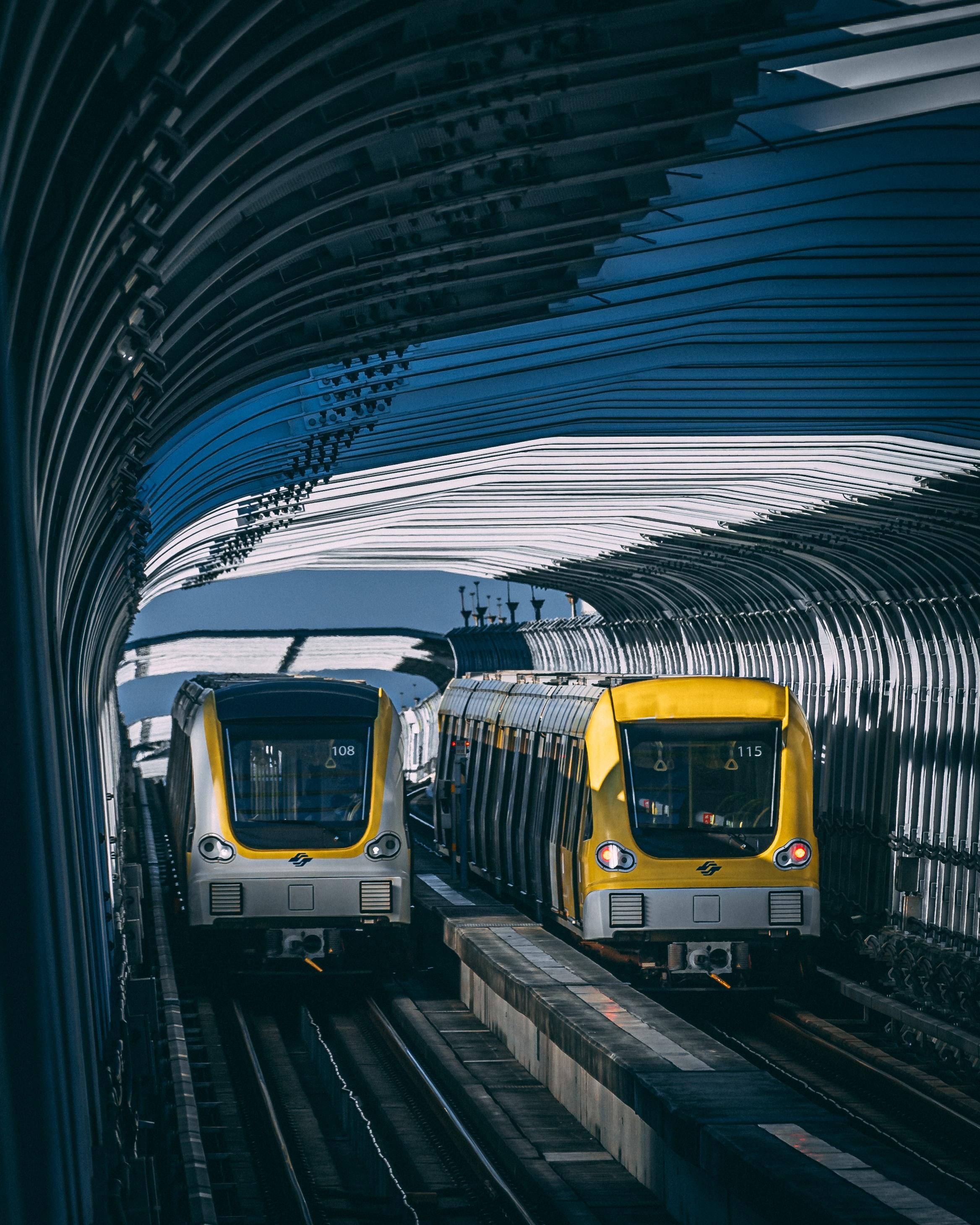 151003 скачать обои Разное, Поезда, Тоннель, Рельсы, Метро - заставки и картинки бесплатно