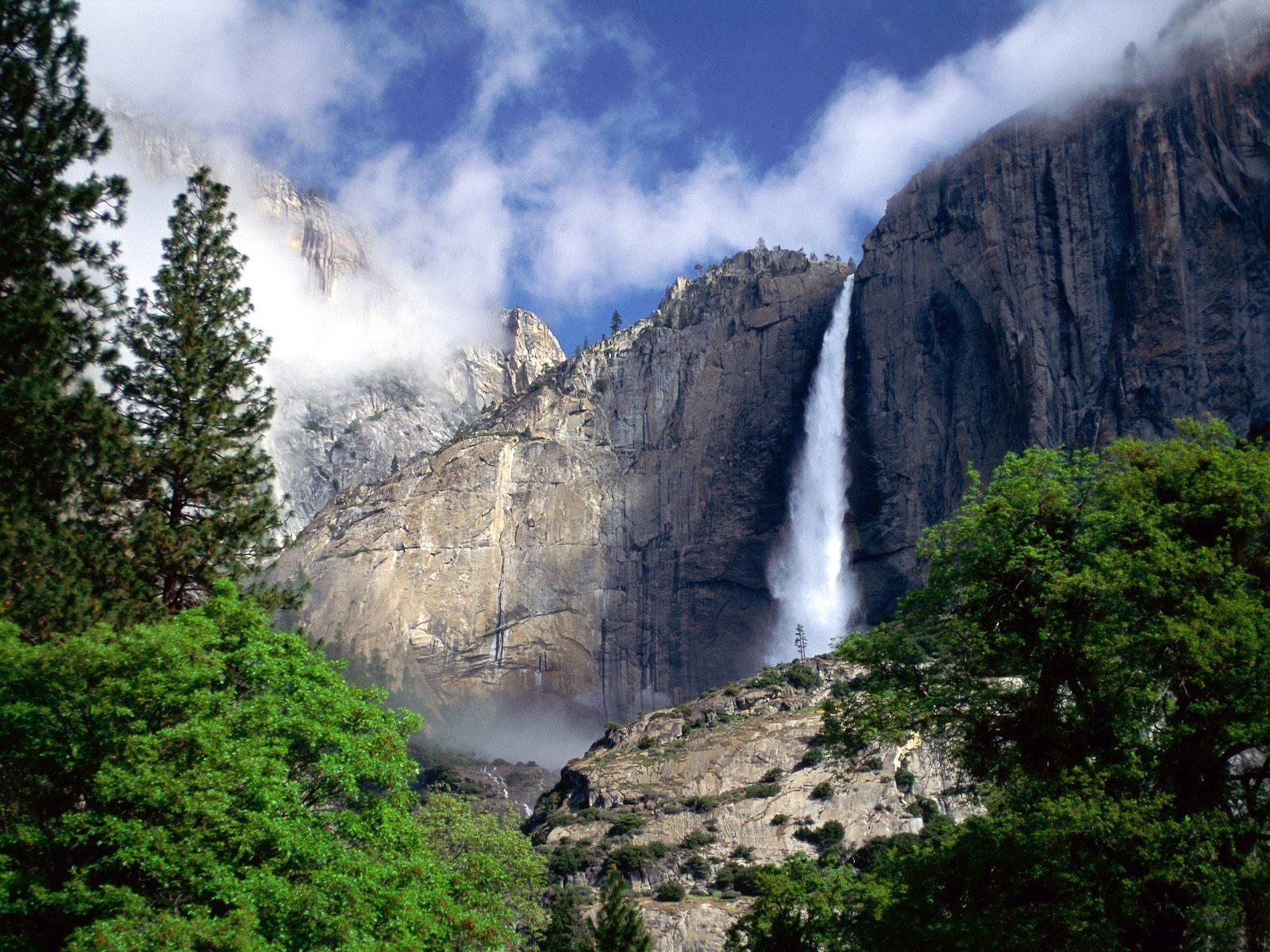9812 скачать обои Пейзаж, Горы, Водопады - заставки и картинки бесплатно