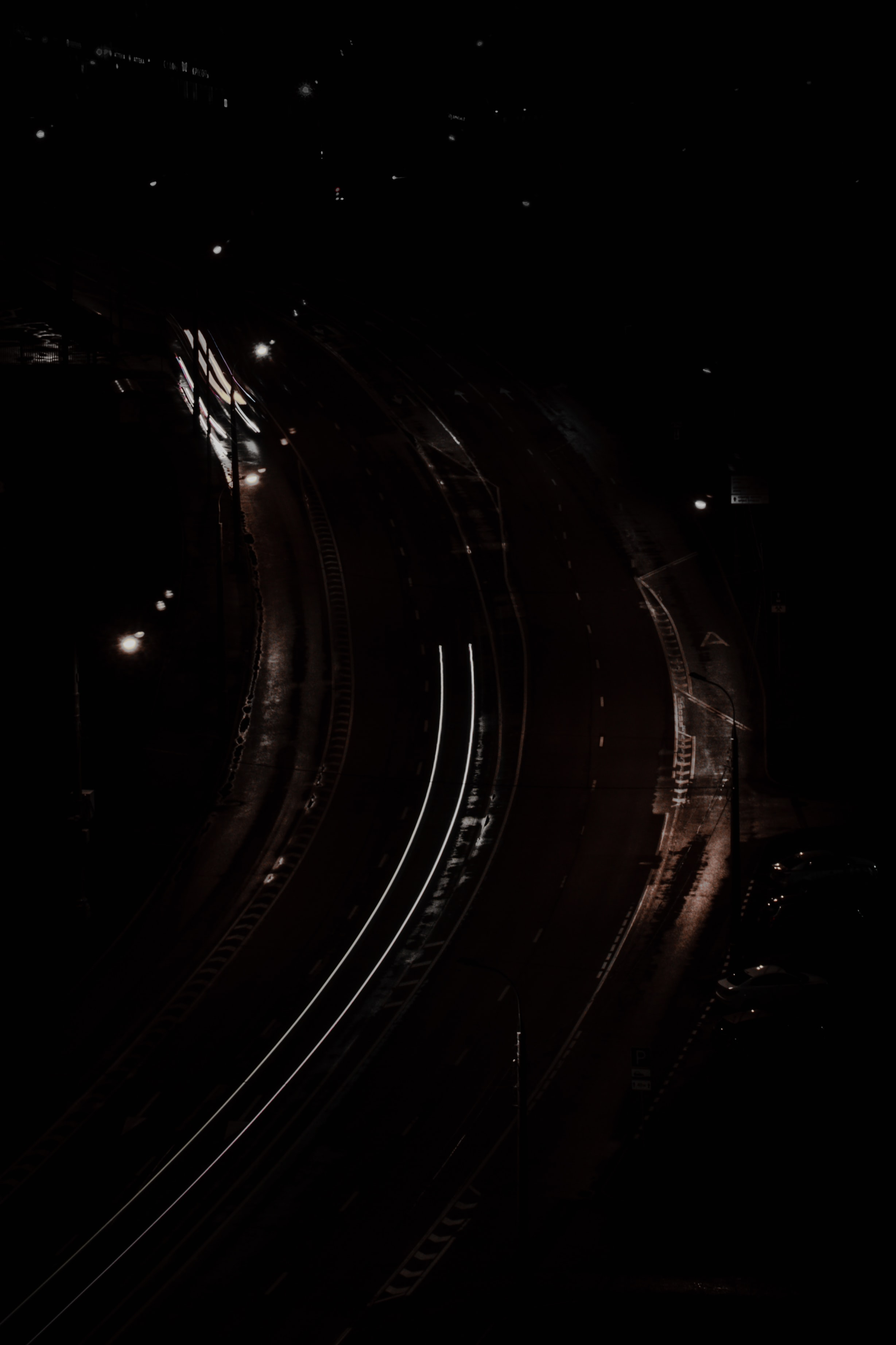 70679 Screensavers and Wallpapers Roads for phone. Download Roads, Night, Dark, Lines, Glow pictures for free