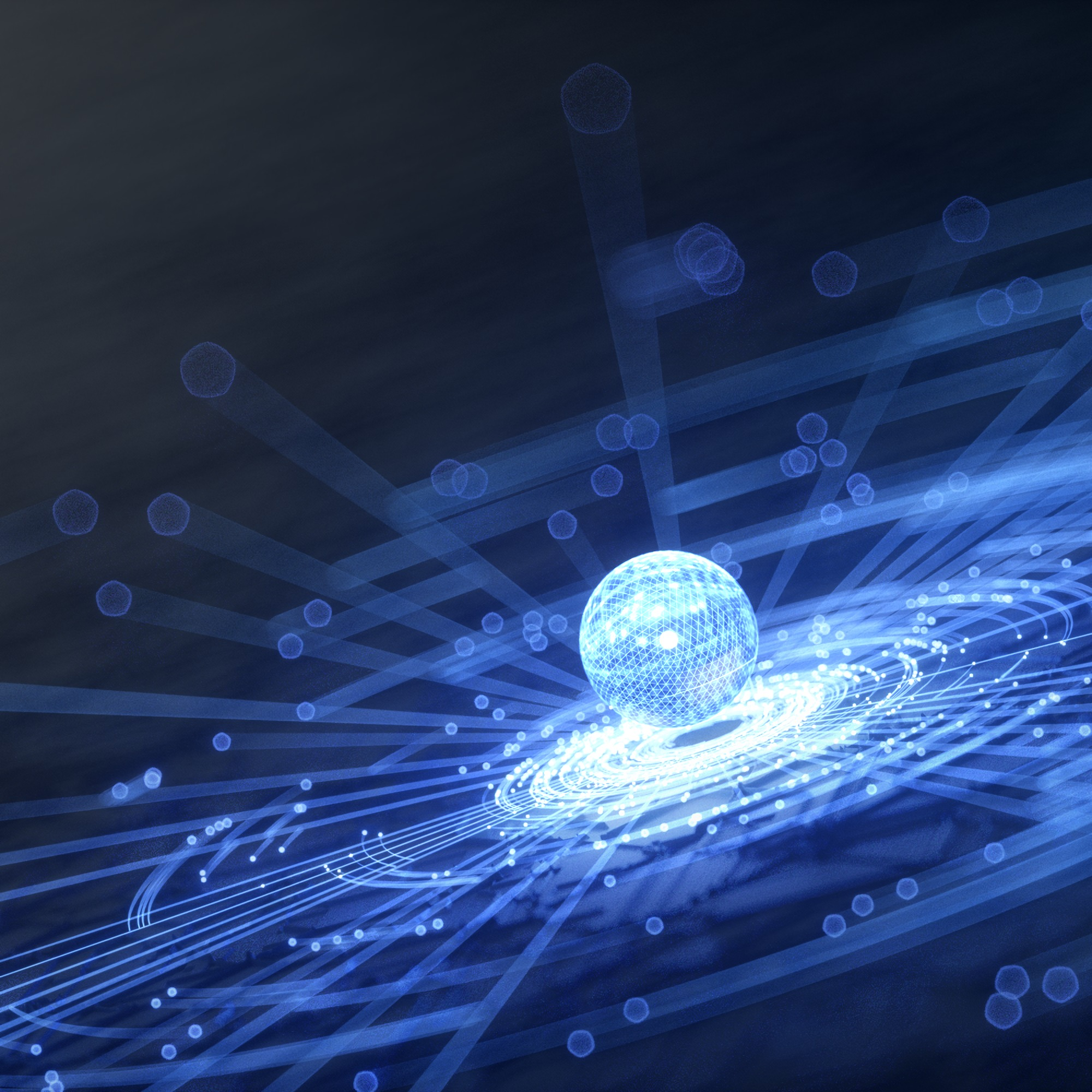 144508 download wallpaper 3D, Hologram, Ball, Sphere, Lines, Points, Point, Glow screensavers and pictures for free