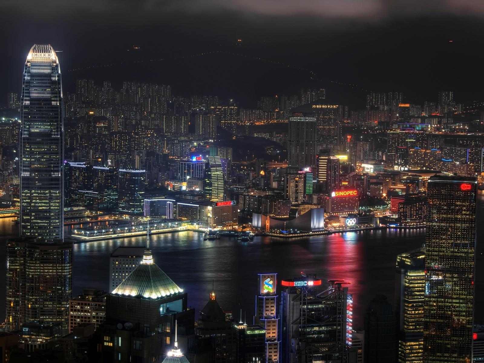 13610 скачать обои Пейзаж, Города, Ночь - заставки и картинки бесплатно