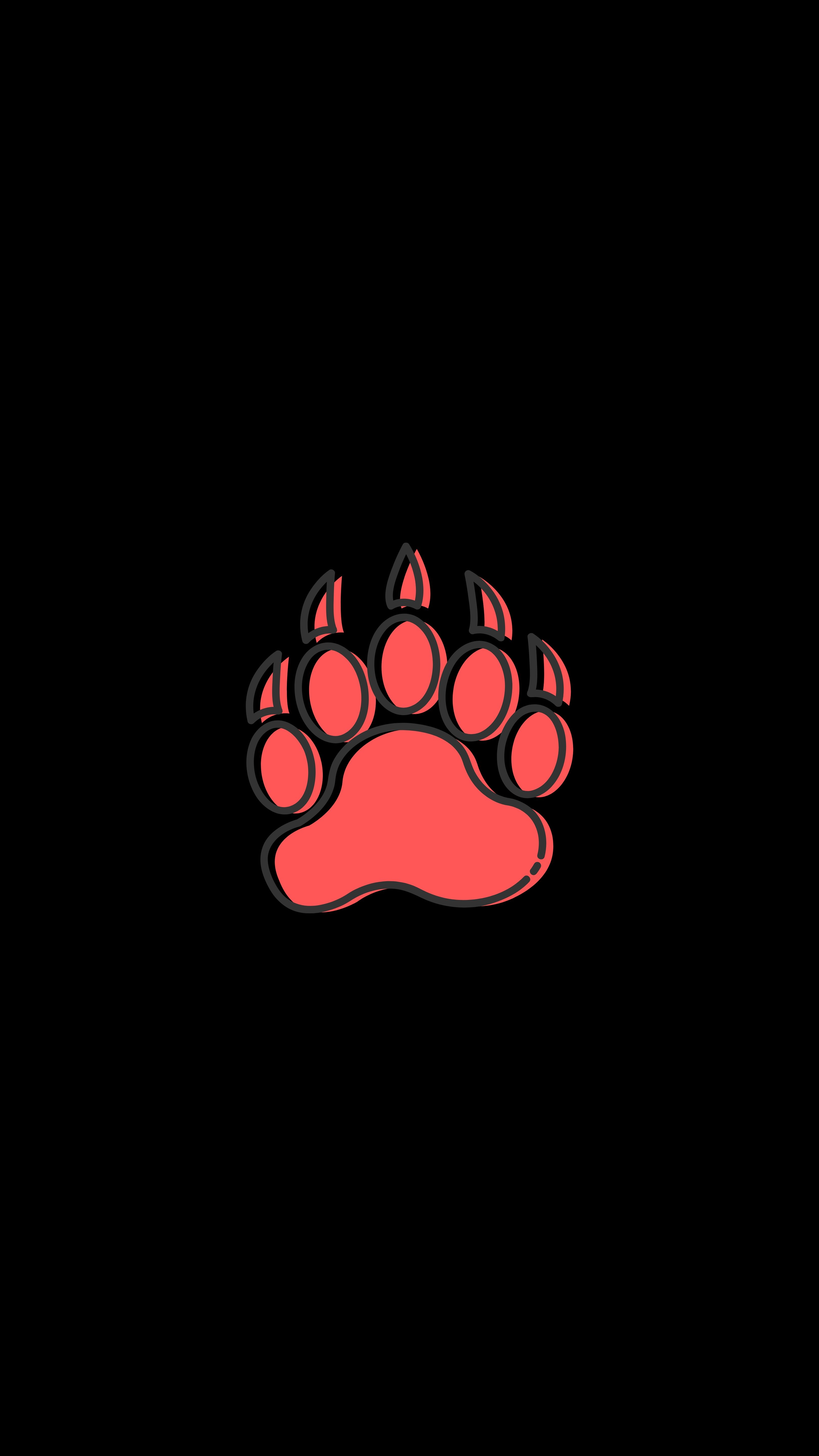 80002 download wallpaper Vector, Paw, Track, Trace, Animal, Art screensavers and pictures for free