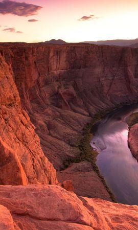 22830 скачать обои Пейзаж, Река, Закат, Горы - заставки и картинки бесплатно
