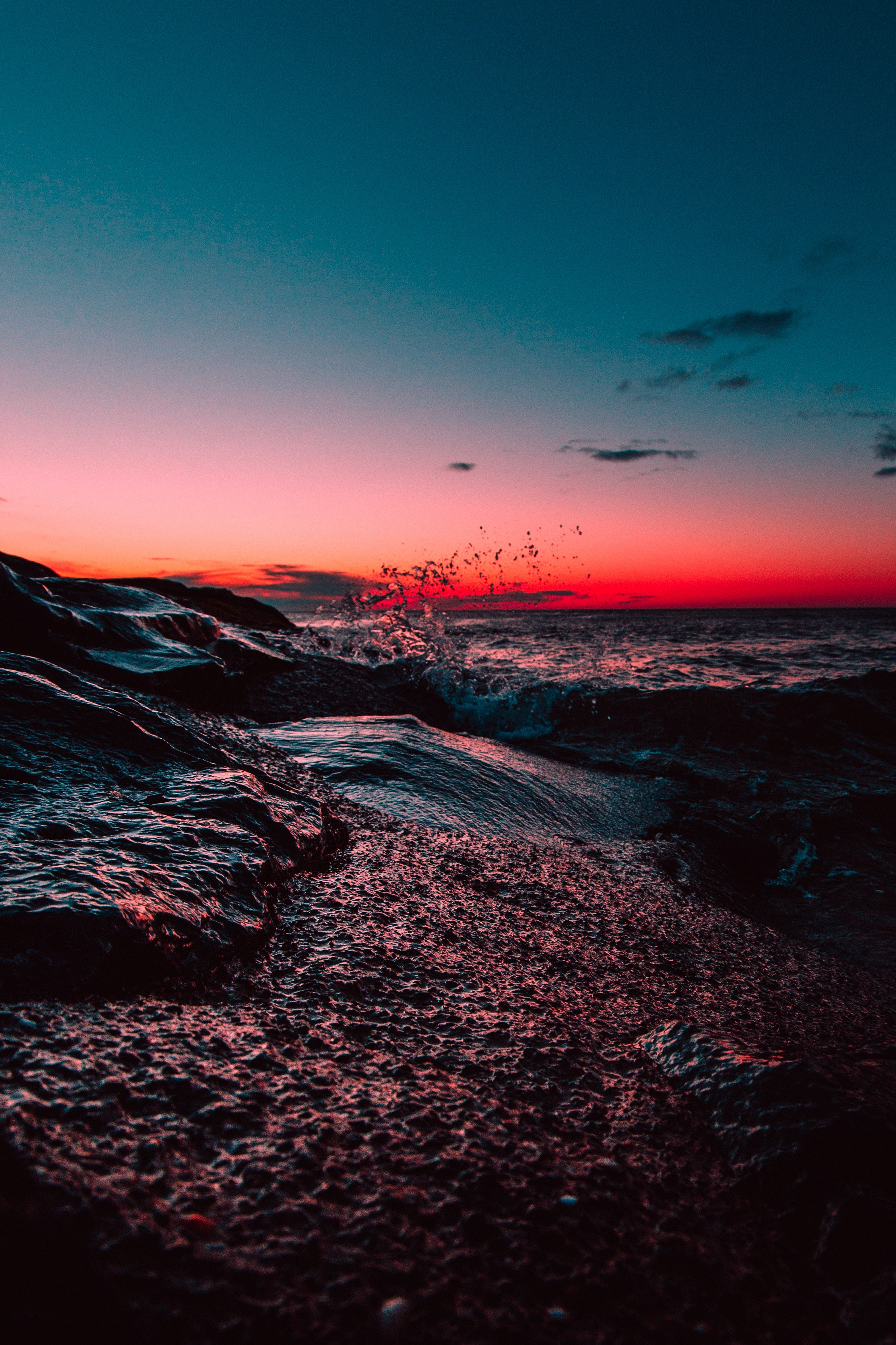 51784 télécharger le fond d'écran Nature, Coucher De Soleil, Sky, Mer, Horizon, Etats-Unis, États-Unis, Le Surf, Surfer, Parc D'asbury, Parc Asbury - économiseurs d'écran et images gratuitement
