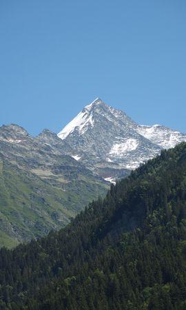 107130 télécharger le fond d'écran Nature, Montagne, Sommet, Retour Au Début, Neige, Forêt, Pente - économiseurs d'écran et images gratuitement