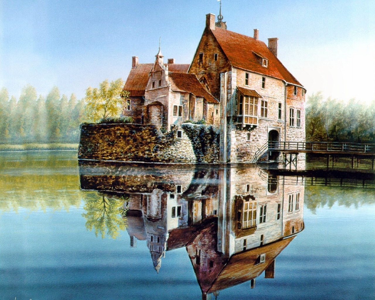 4774 download wallpaper Houses, Pictures, Lakes screensavers and pictures for free