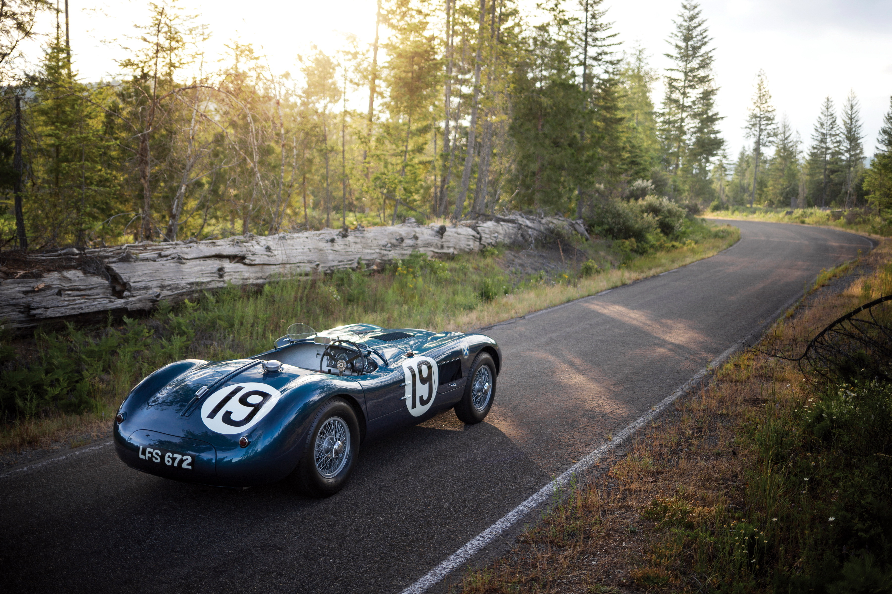 154882 download wallpaper Sports, Jaguar, Cars, Sports Car, Side View, 1951, C-Type screensavers and pictures for free