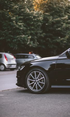 50838 télécharger le fond d'écran Voitures, Audi, Voiture, La Roue, Roue, Le Noir - économiseurs d'écran et images gratuitement