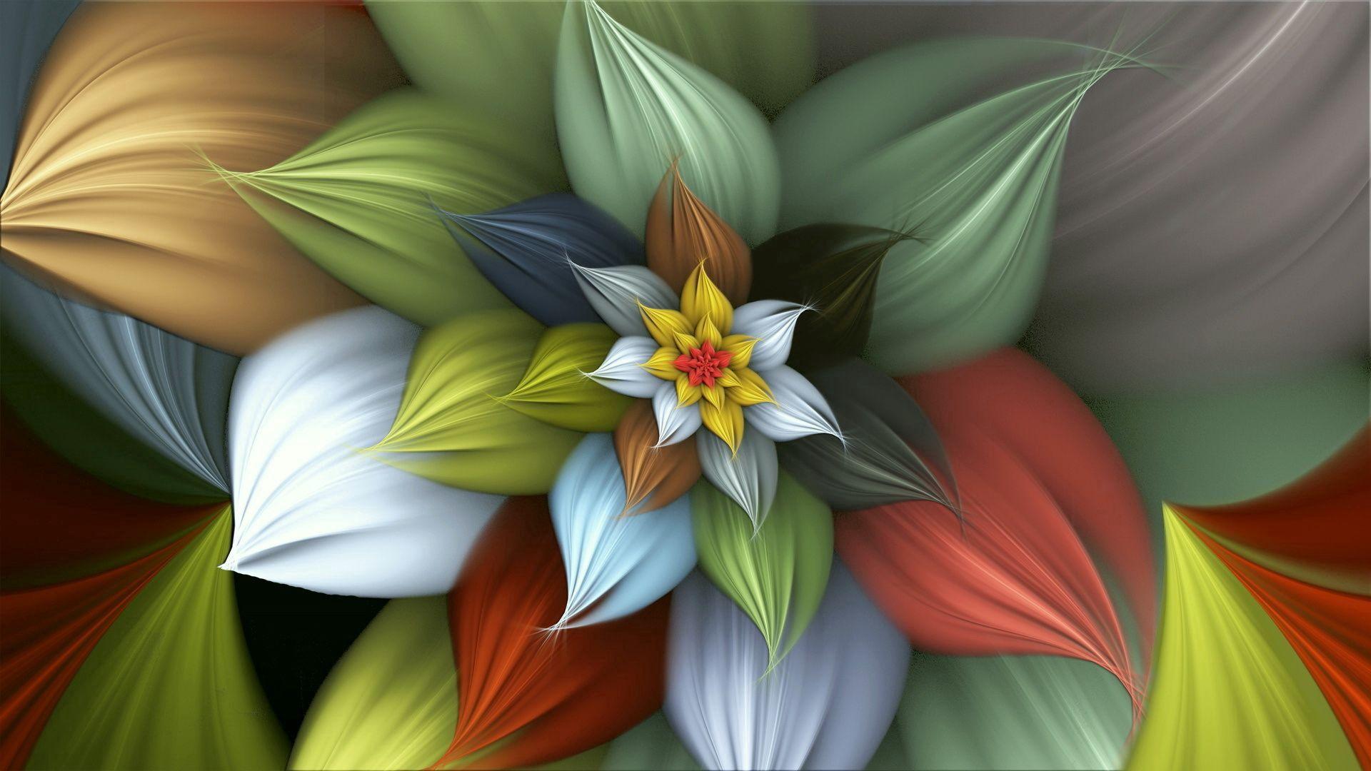 125394 скачать обои Абстракция, Цветок, Фон, Разноцветный, Красочный, Дымовой - заставки и картинки бесплатно