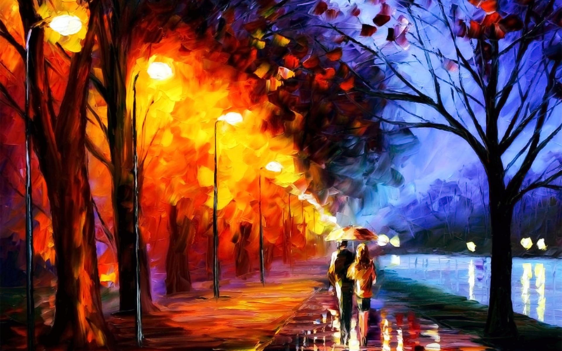 4828 скачать обои Пейзаж, Осень, Рисунки - заставки и картинки бесплатно