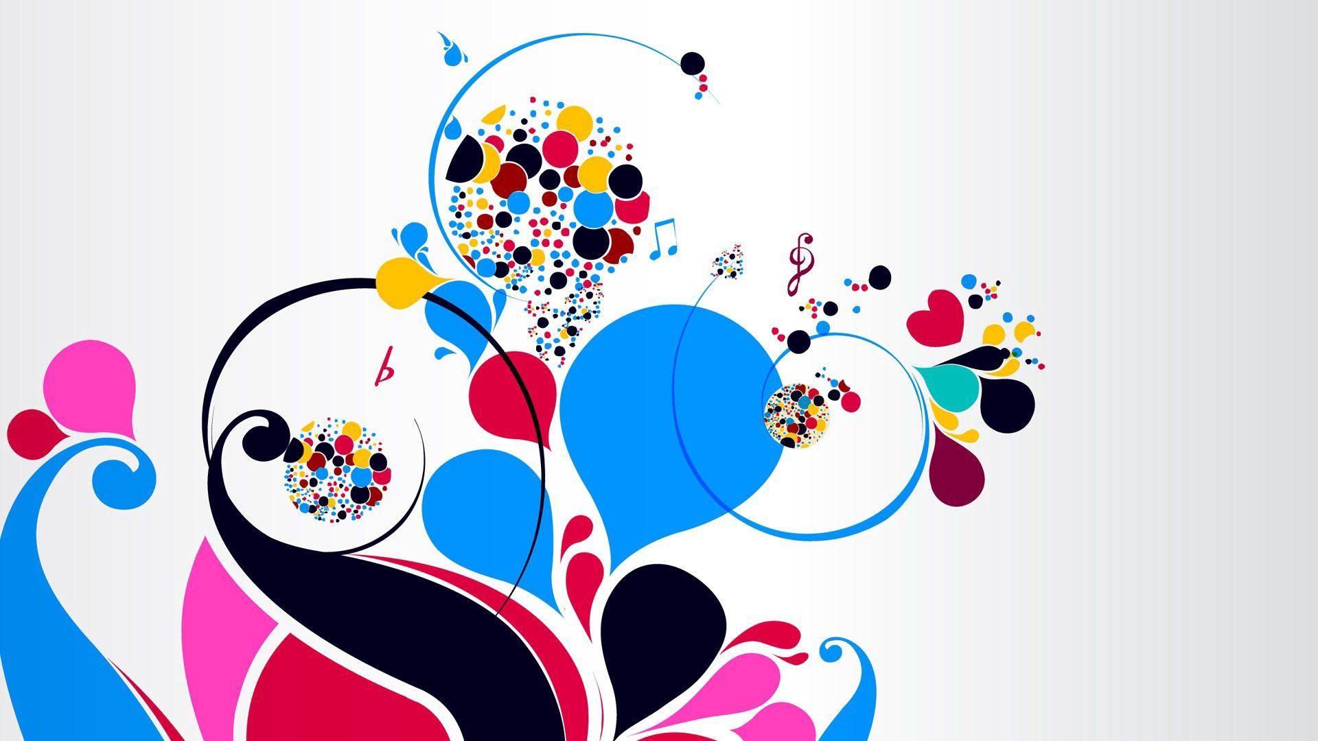 156375 Hintergrundbild herunterladen Musik, Abstrakt, Patterns, Hell, Mehrfarbig, Motley, Anmerkungen, Violinschlüssel, Dreifacher Schlüssel - Bildschirmschoner und Bilder kostenlos