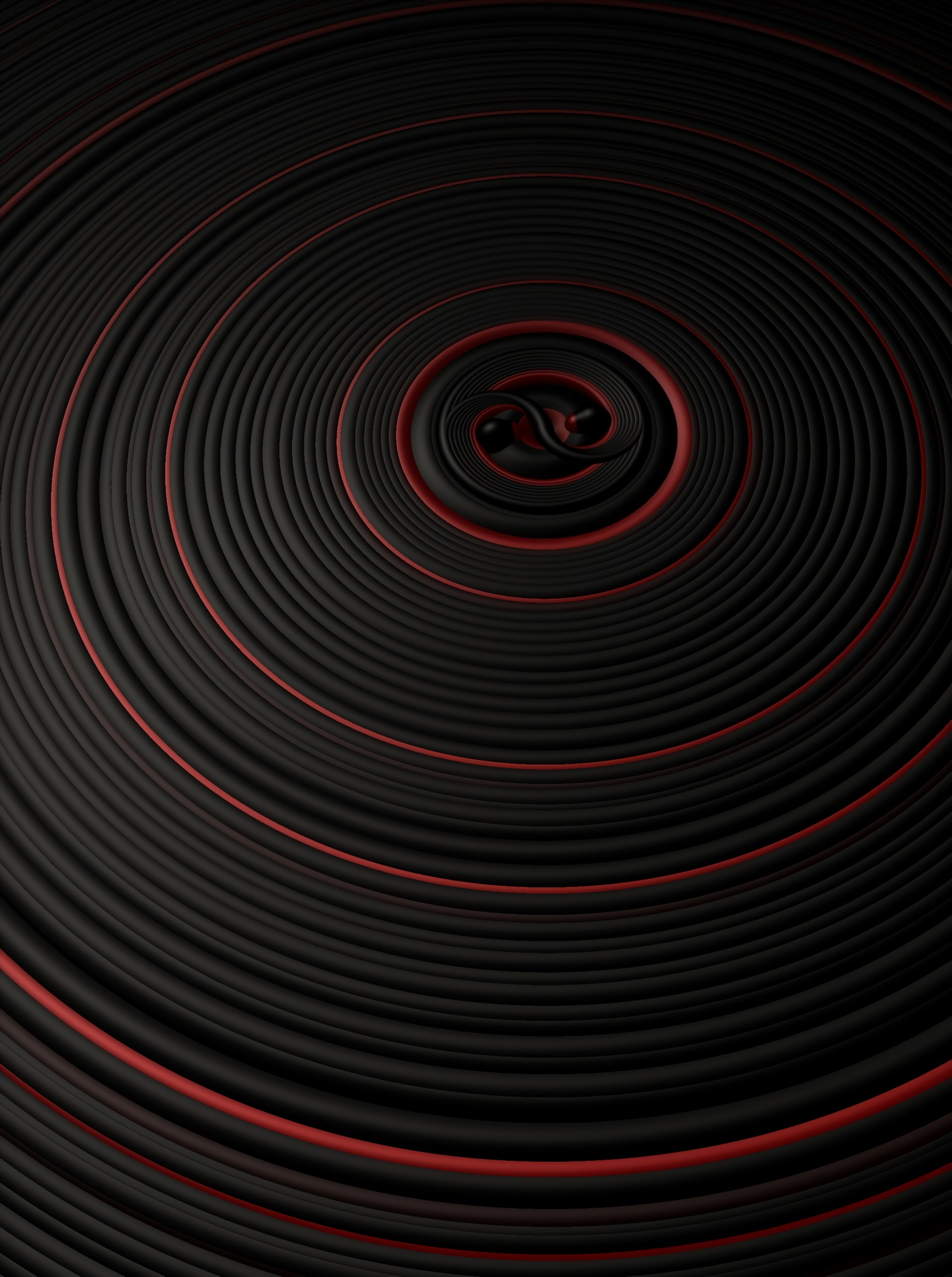 57112 免費下載壁紙 3D, 界, 圆圈, 表面, 振动, 黑色的, 红色的 屏保和圖片