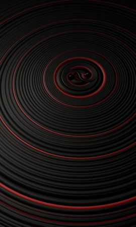 57112 Заставки и Обои 3D на телефон. Скачать 3D, Круги, Поверхность, Вибрация, Черный, Красный картинки бесплатно