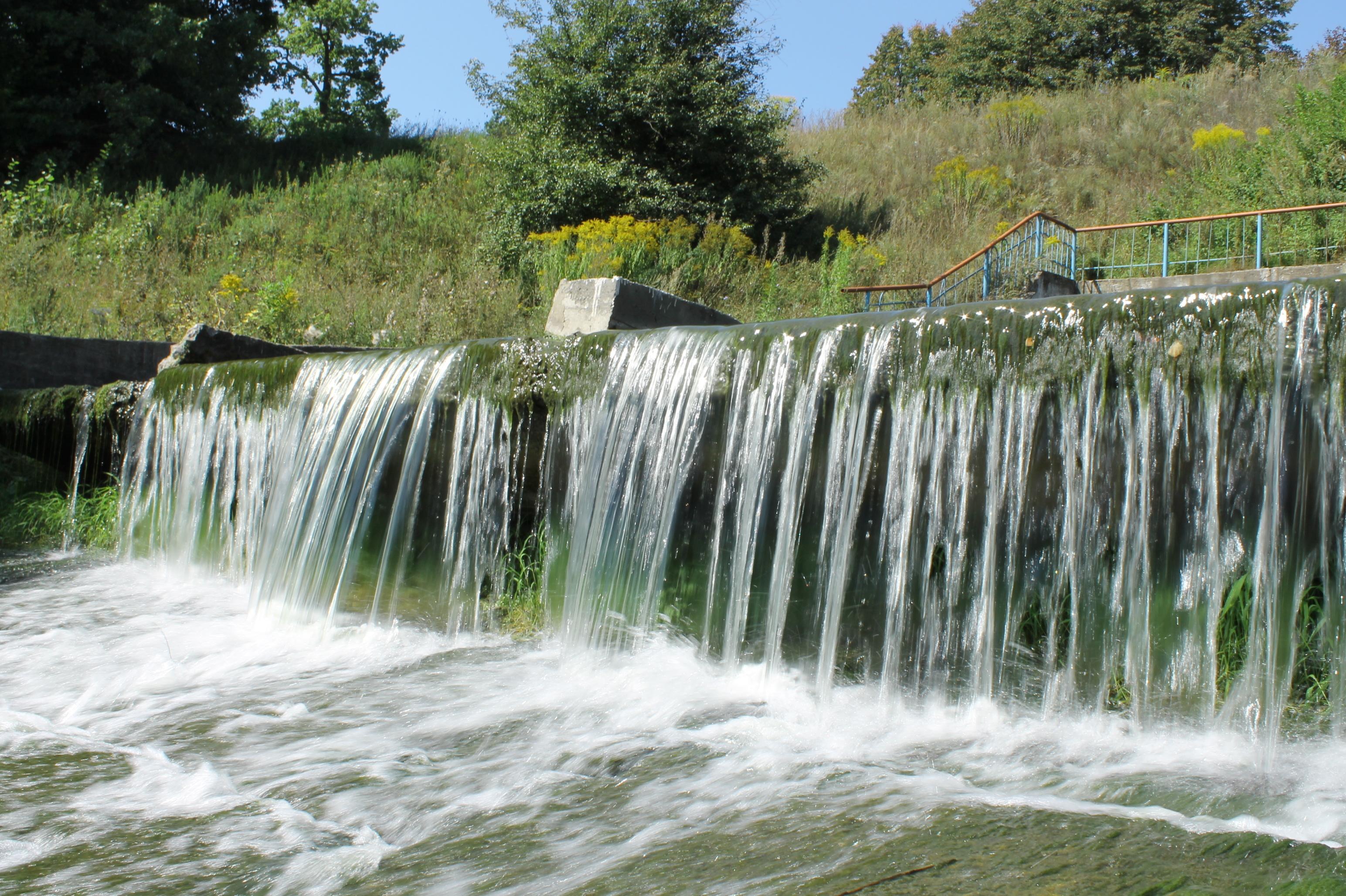 23023 скачать обои Пейзаж, Река, Деревья, Водопады - заставки и картинки бесплатно