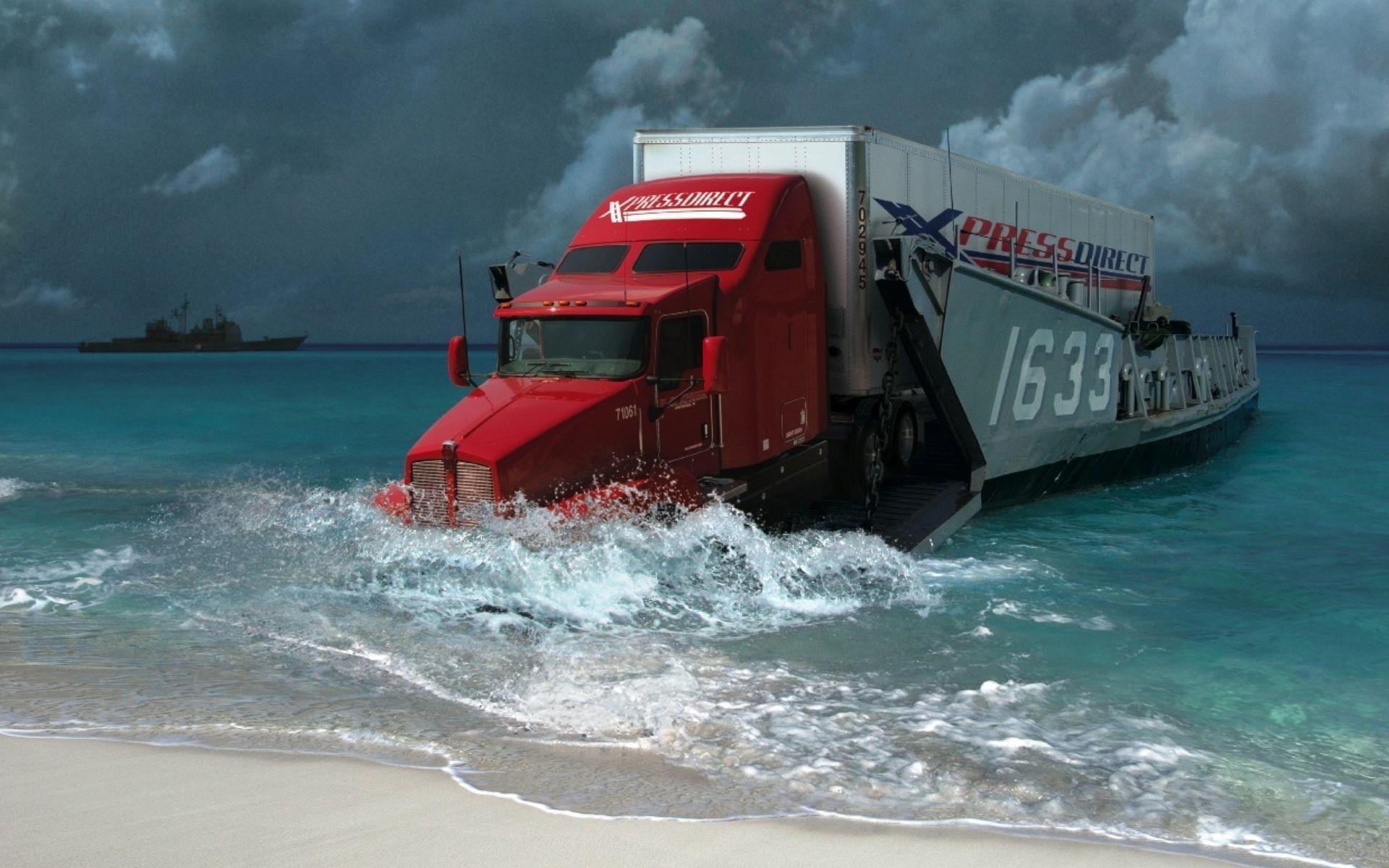 25764 免費下載壁紙 运输, 幻想, 海, 卡车 屏保和圖片
