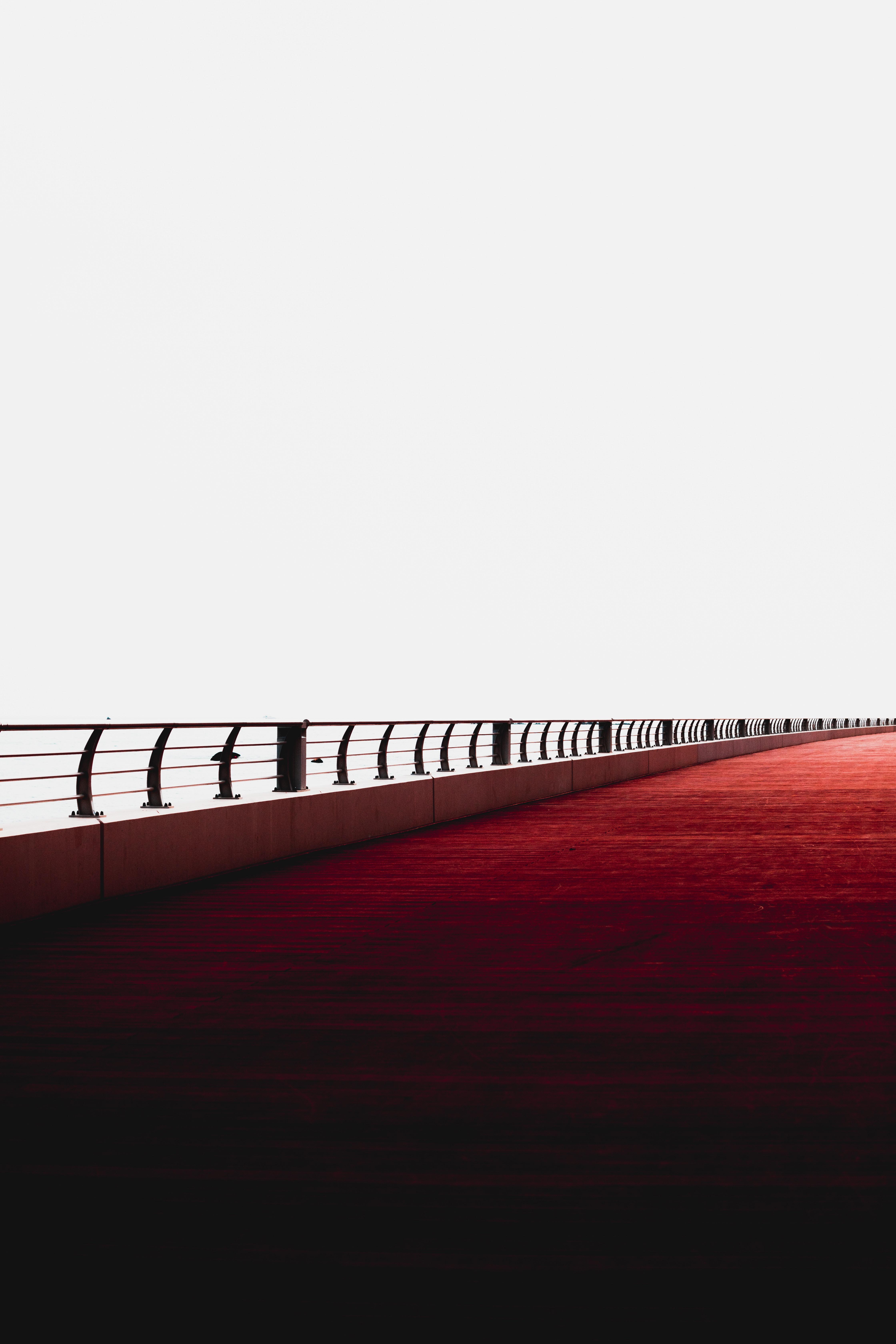 91269 Screensavers and Wallpapers Bridge for phone. Download Minimalism, Dubai, Bridge, Railings, Handrail, United Arab Emirates pictures for free
