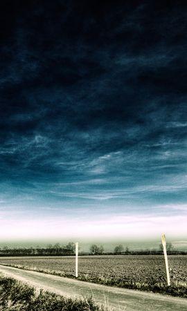20084 скачать обои Пейзаж, Поля, Небо, Дороги, Облака - заставки и картинки бесплатно