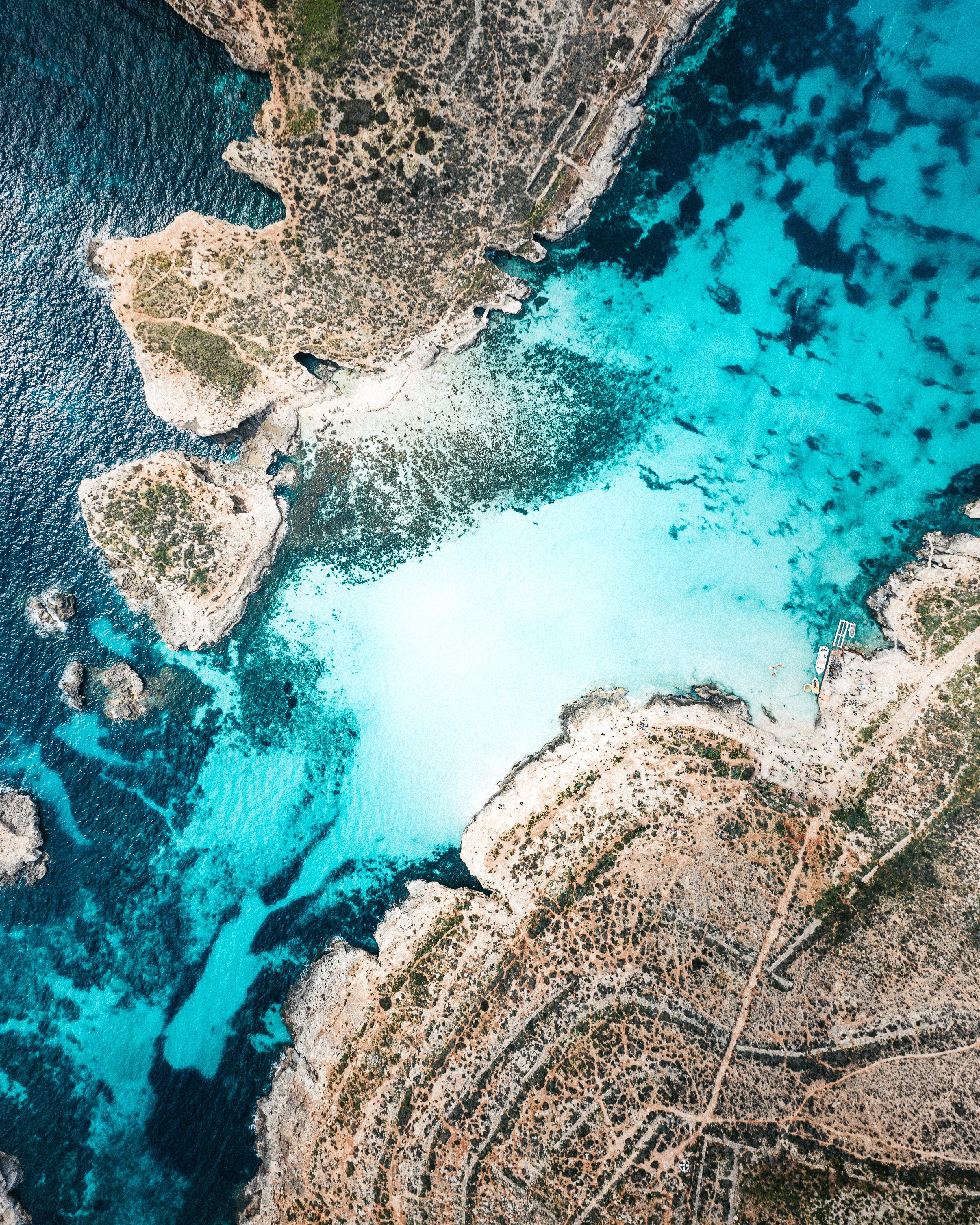 51508 免費下載壁紙 性质, 海岸, 管, 普罗托卡, 岛, 岛屿, 海, 从上面看, 顶视图, 马耳他 屏保和圖片