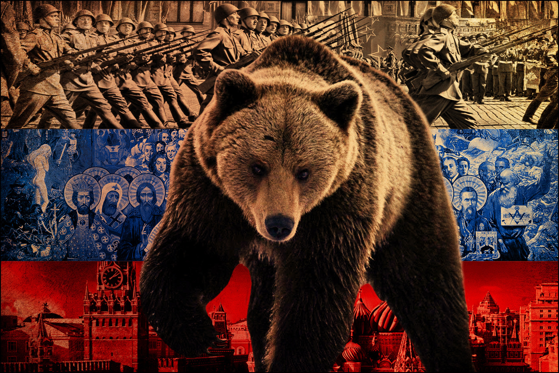 17084 Заставки и Обои Флаги на телефон. Скачать Медведи, Флаги, Животные, Фон картинки бесплатно
