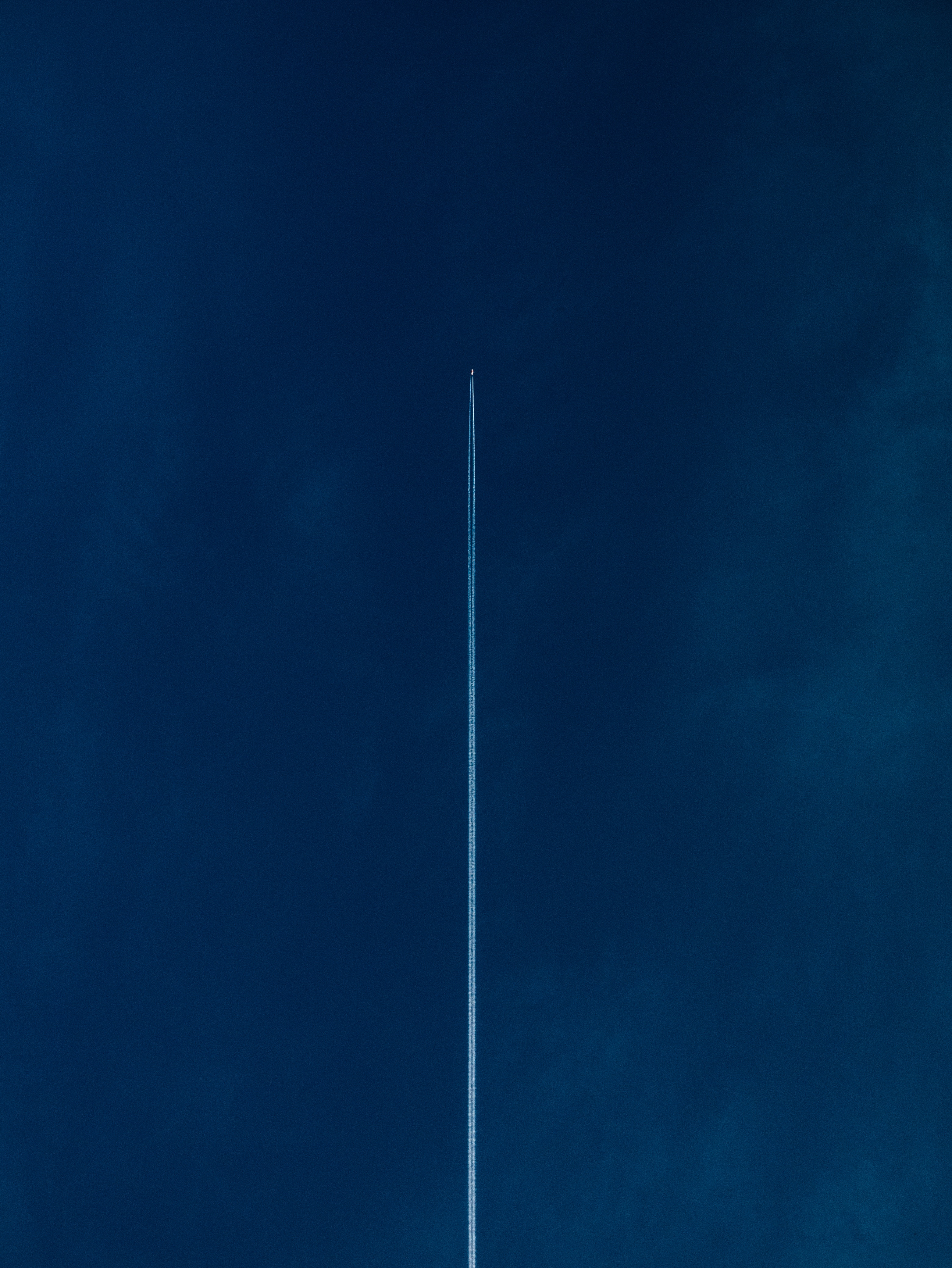 145887 Screensavers and Wallpapers Flight for phone. Download Sky, Minimalism, Flight, Plane, Airplane, Band, Stripe pictures for free
