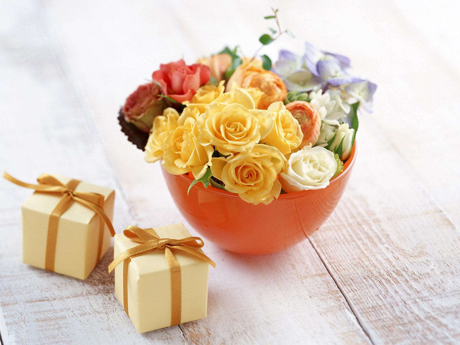 16376 скачать обои Растения, Цветы, Розы, Букеты - заставки и картинки бесплатно