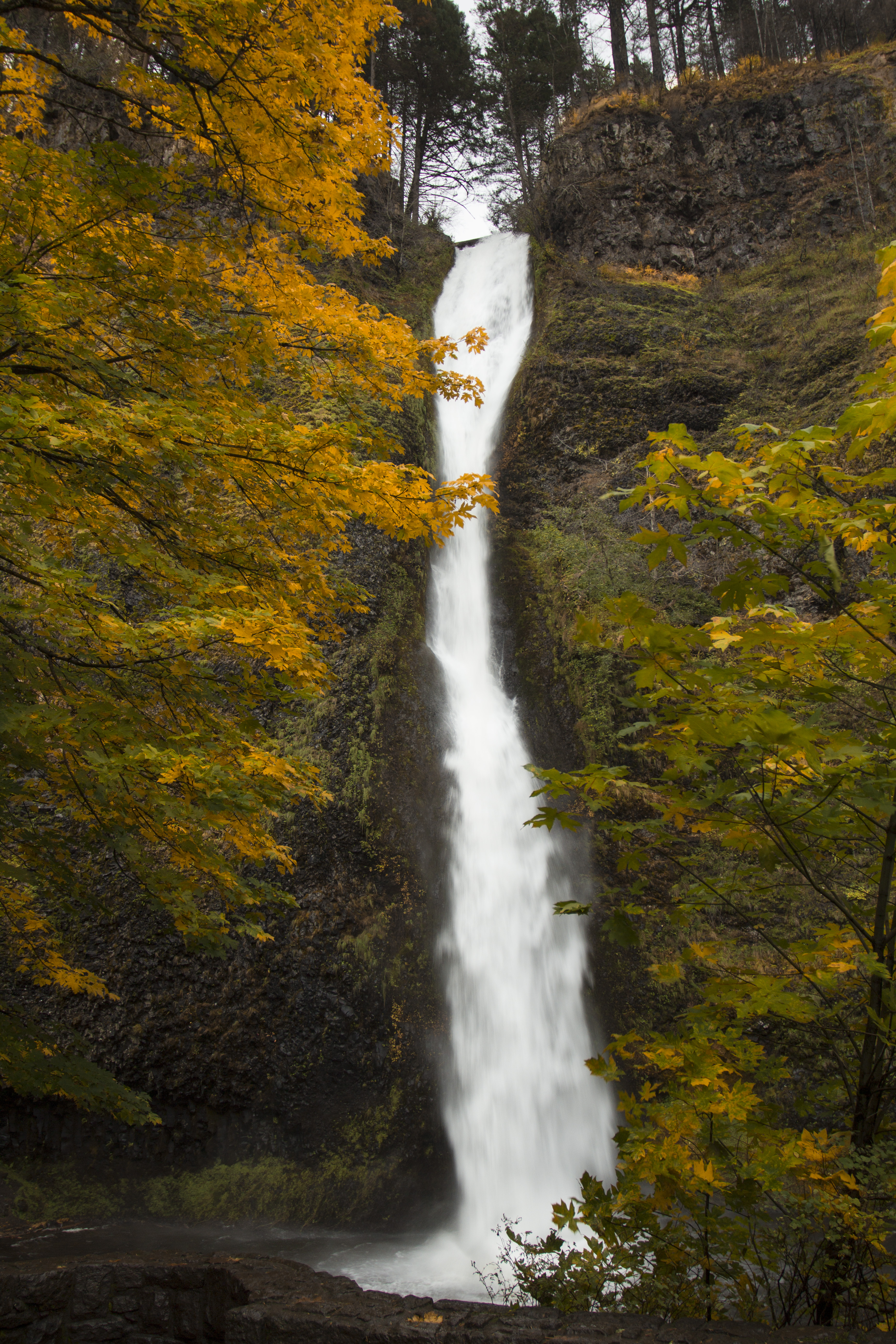 141840 download wallpaper Nature, Waterfall, Slope, Autumn screensavers and pictures for free