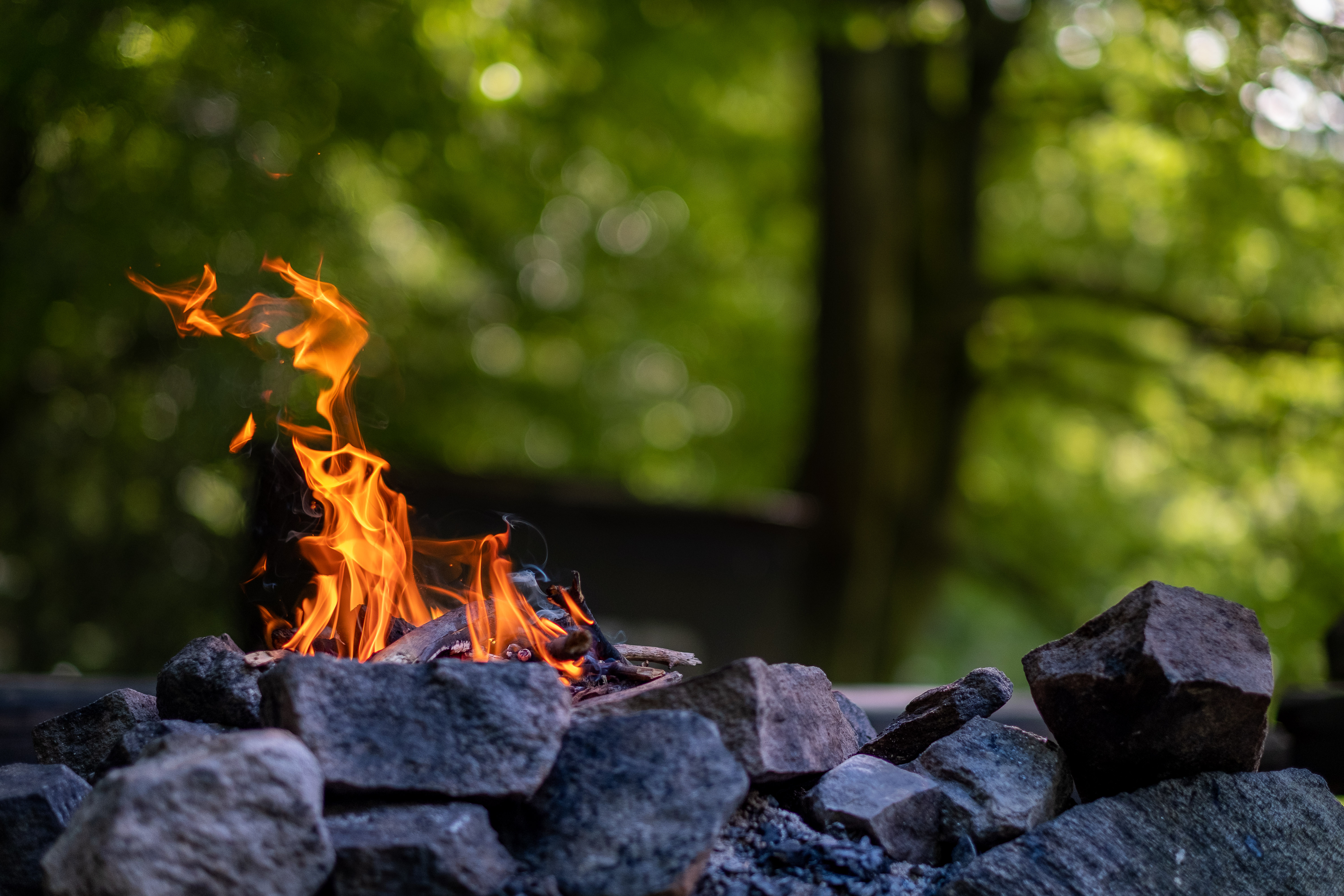 54757 Screensavers and Wallpapers Bonfire for phone. Download Stones, Fire, Bonfire, Flame, Miscellanea, Miscellaneous pictures for free