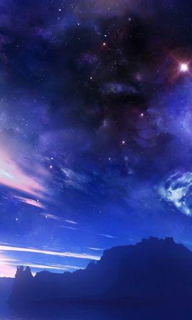 26385 скачать обои Пейзаж, Небо, Горы, Звезды, Ночь - заставки и картинки бесплатно