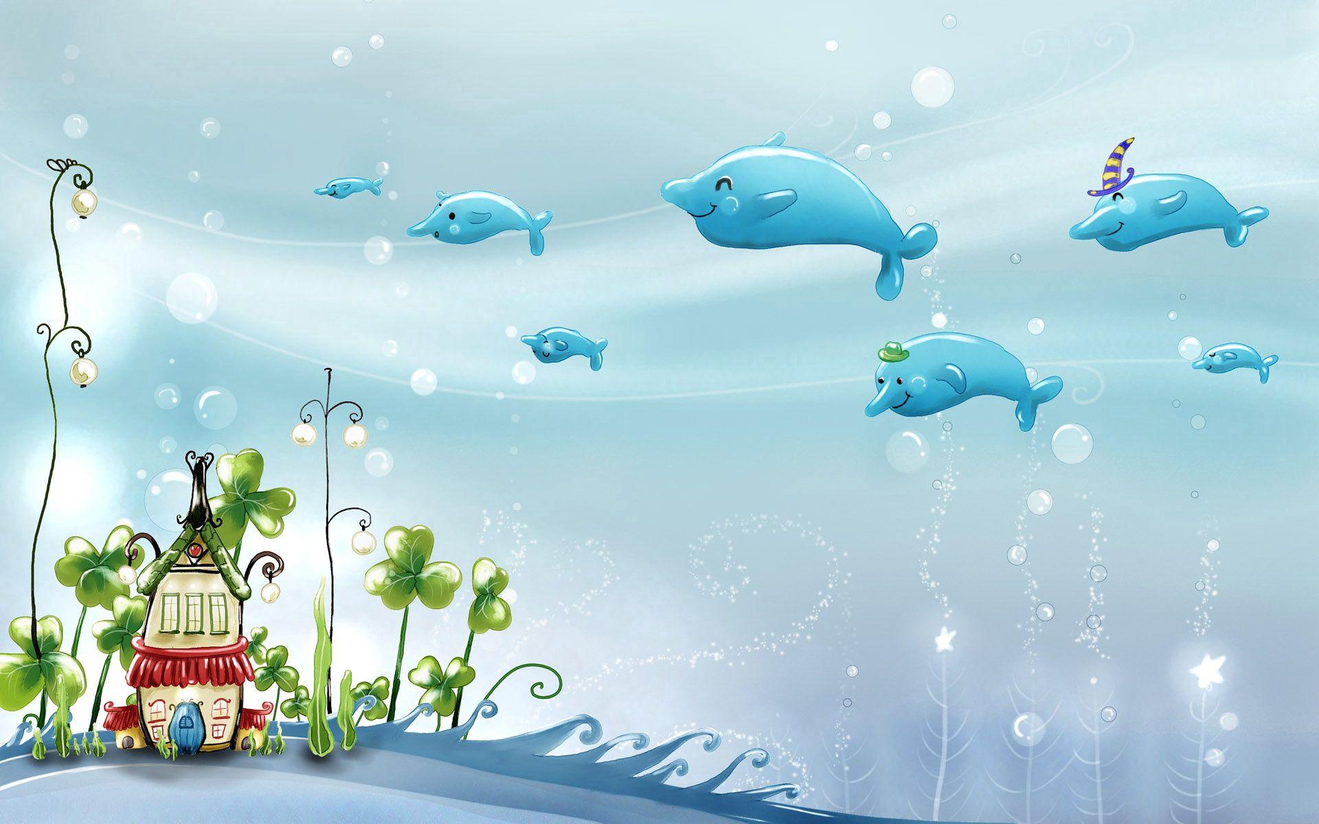 67780 Hintergrundbild herunterladen Delfine, Sea, Schwimmen, Verschiedenes, Sonstige, Hübsch, Es Ist Wunderschön - Bildschirmschoner und Bilder kostenlos