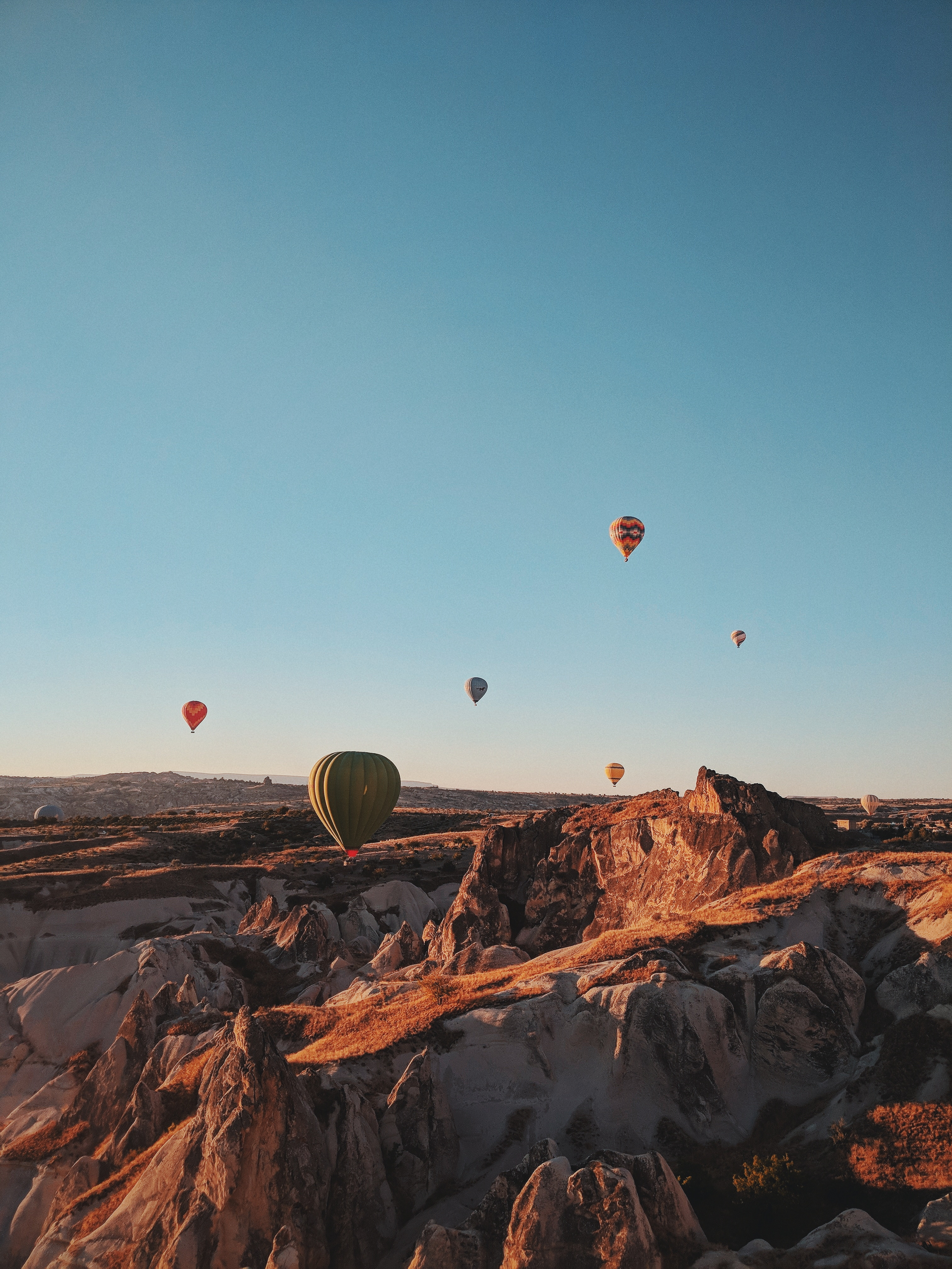 130533 Screensavers and Wallpapers Balloons for phone. Download Nature, Mountains, Balloons, Flight, Turkey pictures for free