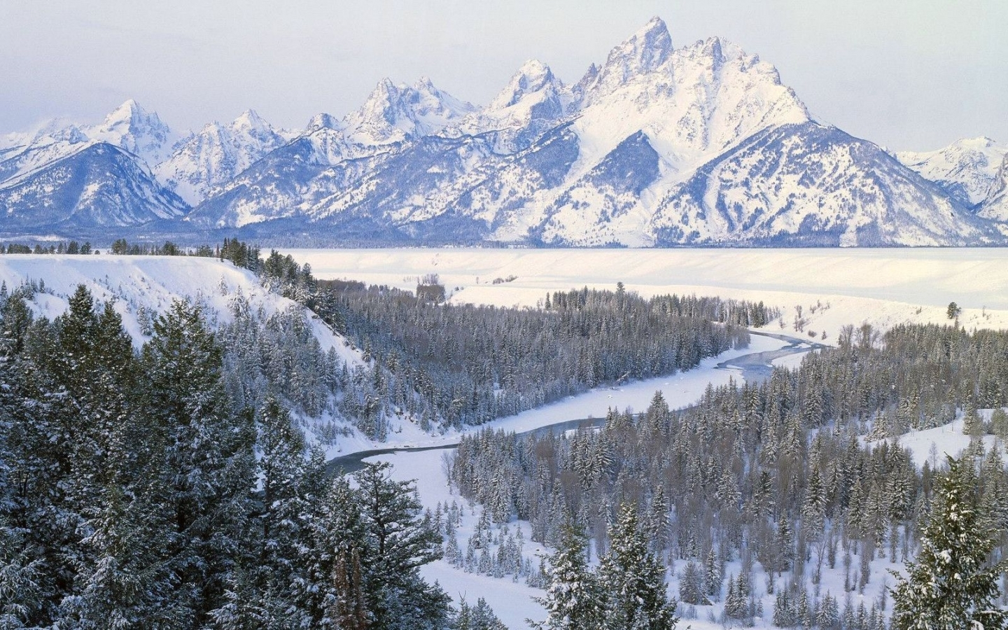 44613 download wallpaper Landscape, Winter, Nature, Mountains, Snow screensavers and pictures for free