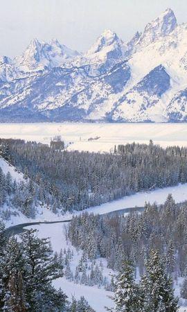 44613 télécharger le fond d'écran Paysage, Hiver, Nature, Montagnes, Neige - économiseurs d'écran et images gratuitement