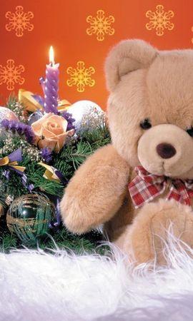 2235 télécharger le fond d'écran Fêtes, Nouvelle Année, Jouets, Bears, Noël, Bougies - économiseurs d'écran et images gratuitement