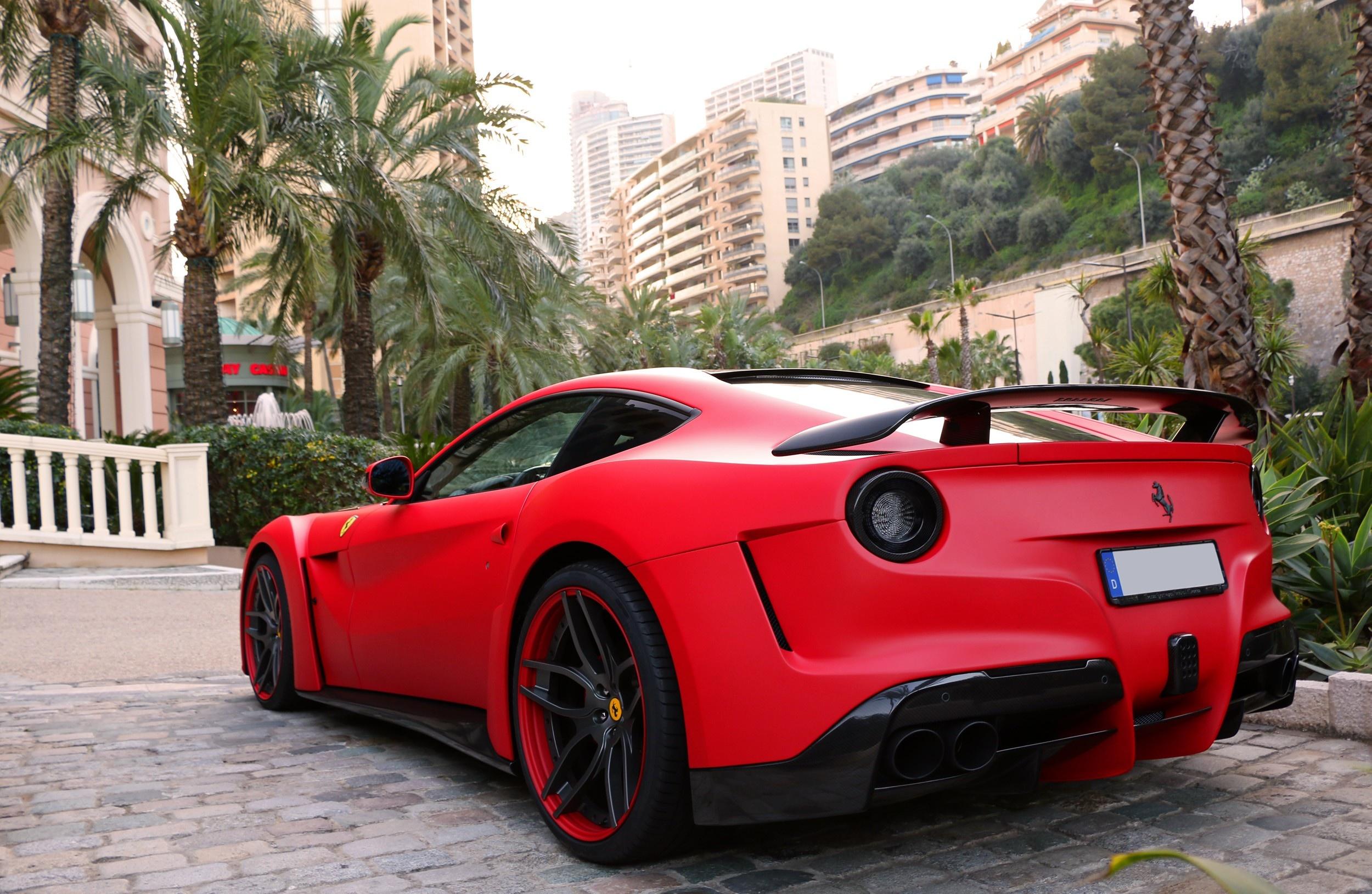 86728 download wallpaper Supercar, Cars, Ferrari, Berlinetta, F12, Novitec Rosso, N-Largo screensavers and pictures for free