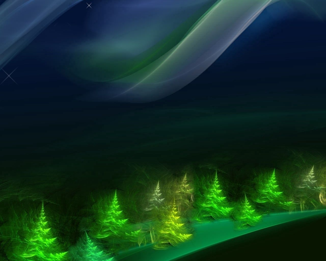 148235 download wallpaper Abstract, Shining, Greens, Fir-Trees screensavers and pictures for free