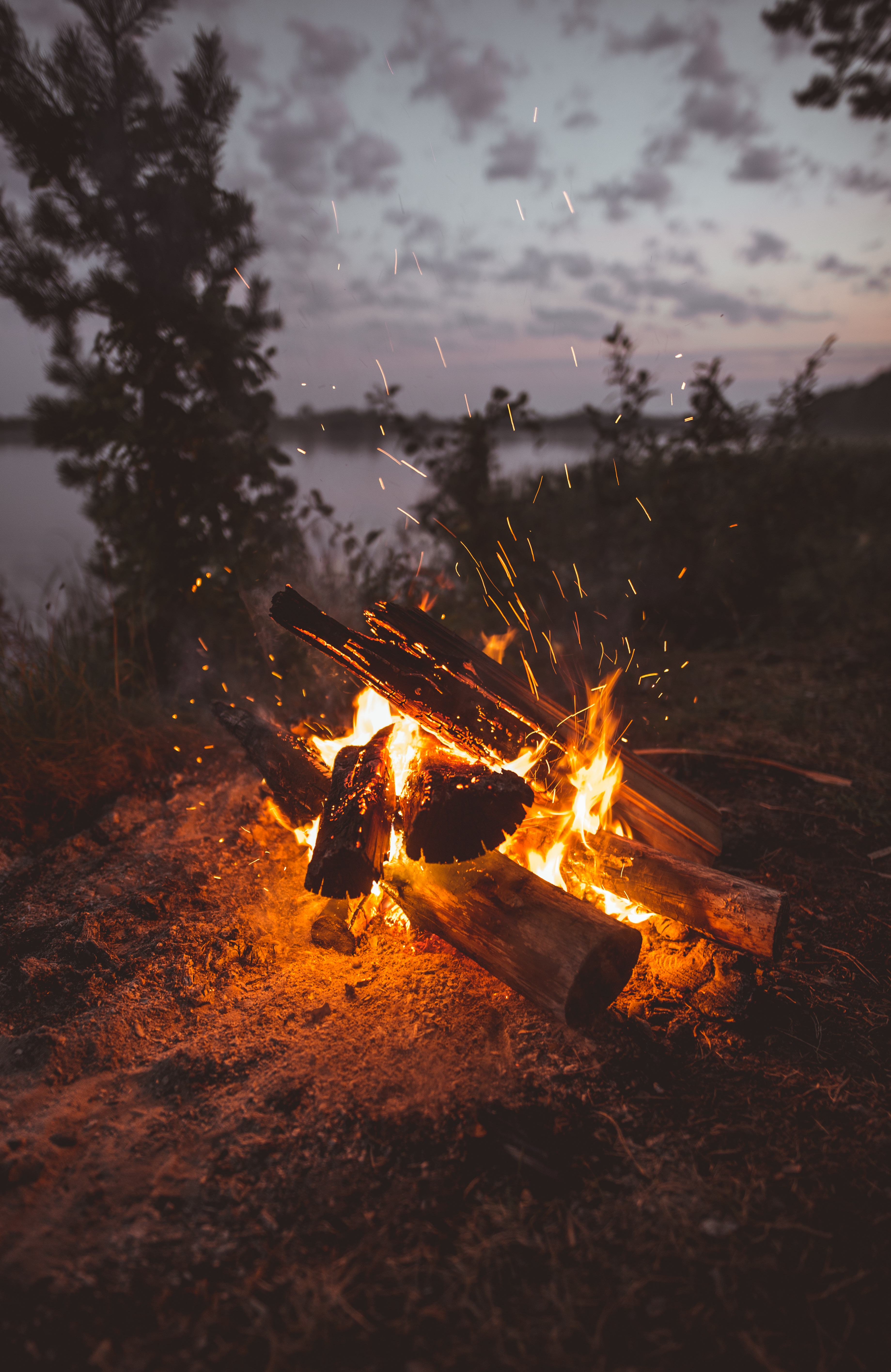 141911 Screensavers and Wallpapers Bonfire for phone. Download Fire, Bonfire, Dark, Sparks, Firewood pictures for free