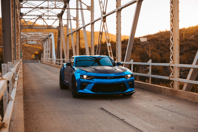 142216 скачать обои Шевроле (Chevrolet), Тачки (Cars), Вид Спереди, Синий, Тюнинг, Фары - заставки и картинки бесплатно