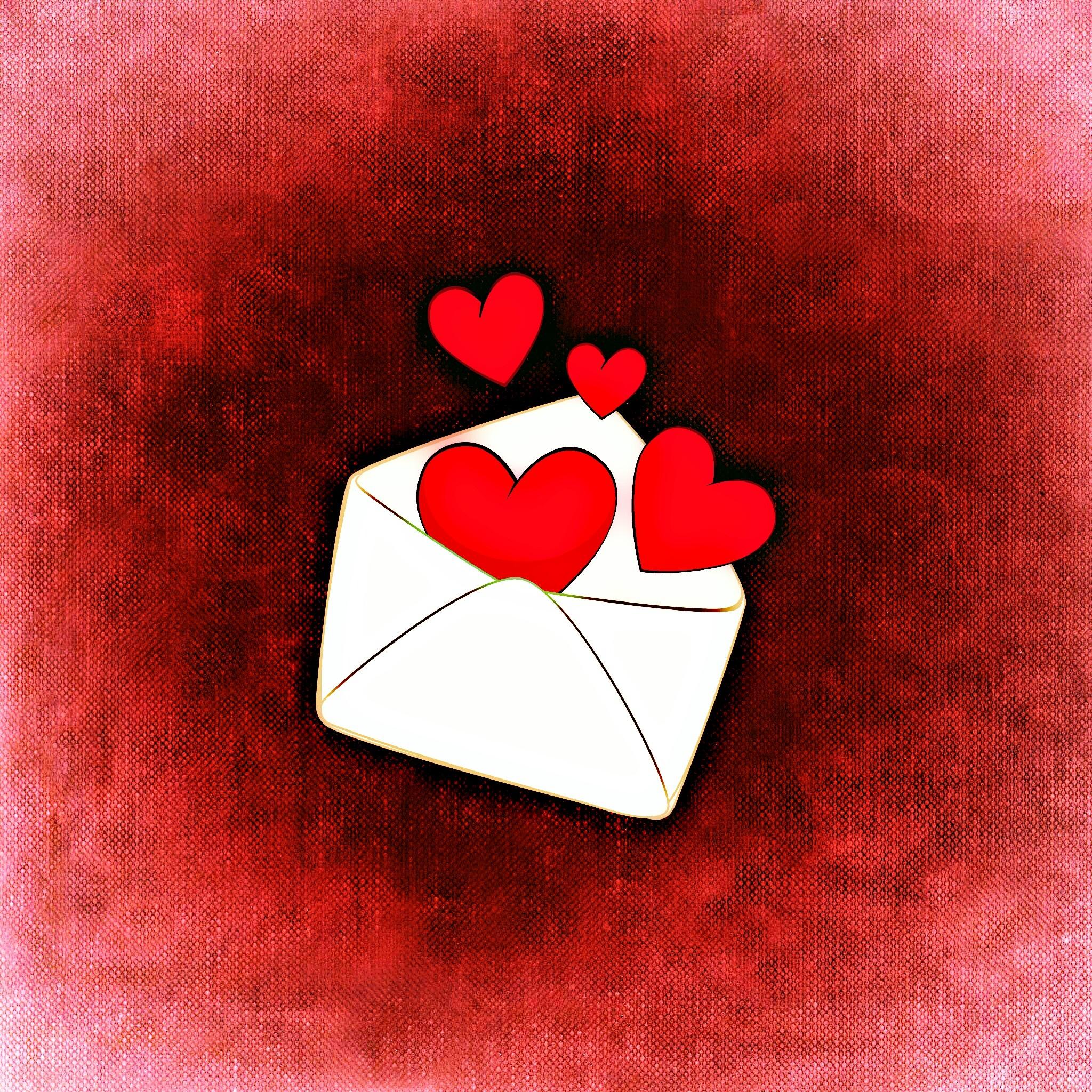 53013 Заставки и Обои Сердца на телефон. Скачать Сердца, Арт, Любовь, Романтика, Конверт картинки бесплатно