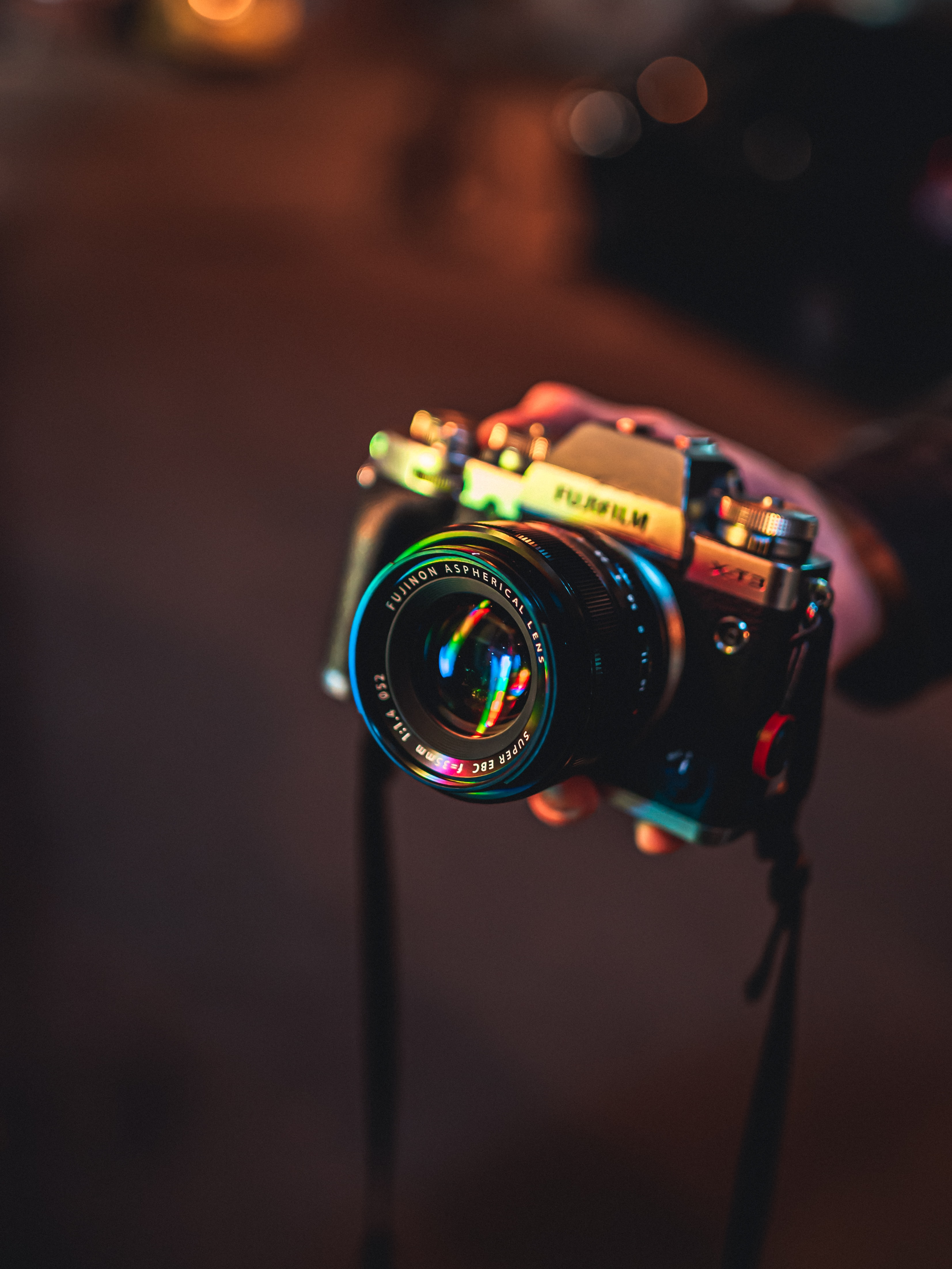 99517 download wallpaper Lights, Reflection, Glare, Technologies, Technology, Camera screensavers and pictures for free