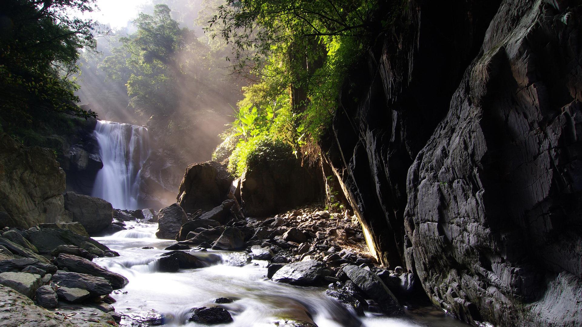 23623 скачать обои Пейзаж, Река, Камни, Водопады - заставки и картинки бесплатно
