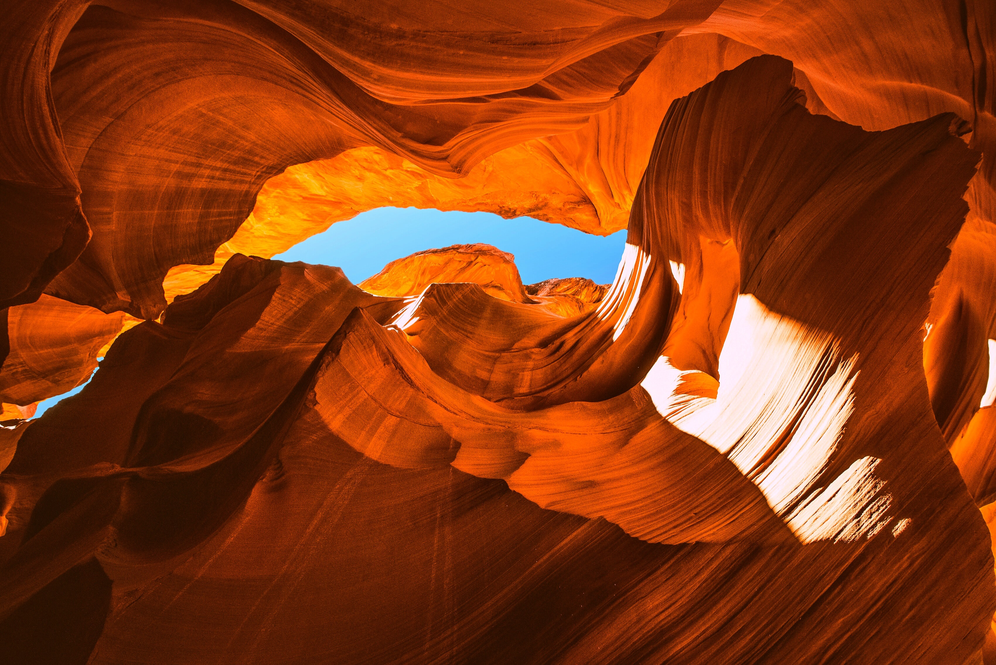 110848 download wallpaper Nature, Canyon, Cave, Rocks, Sandy, Bottom View screensavers and pictures for free