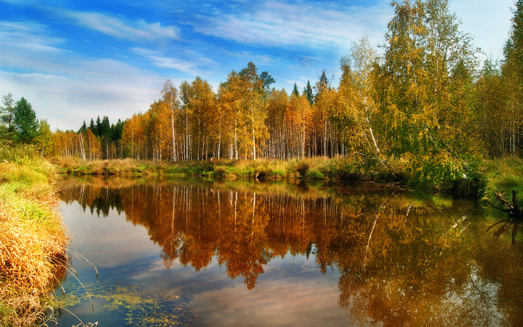 28243 download wallpaper Landscape, Rivers, Trees, Autumn screensavers and pictures for free