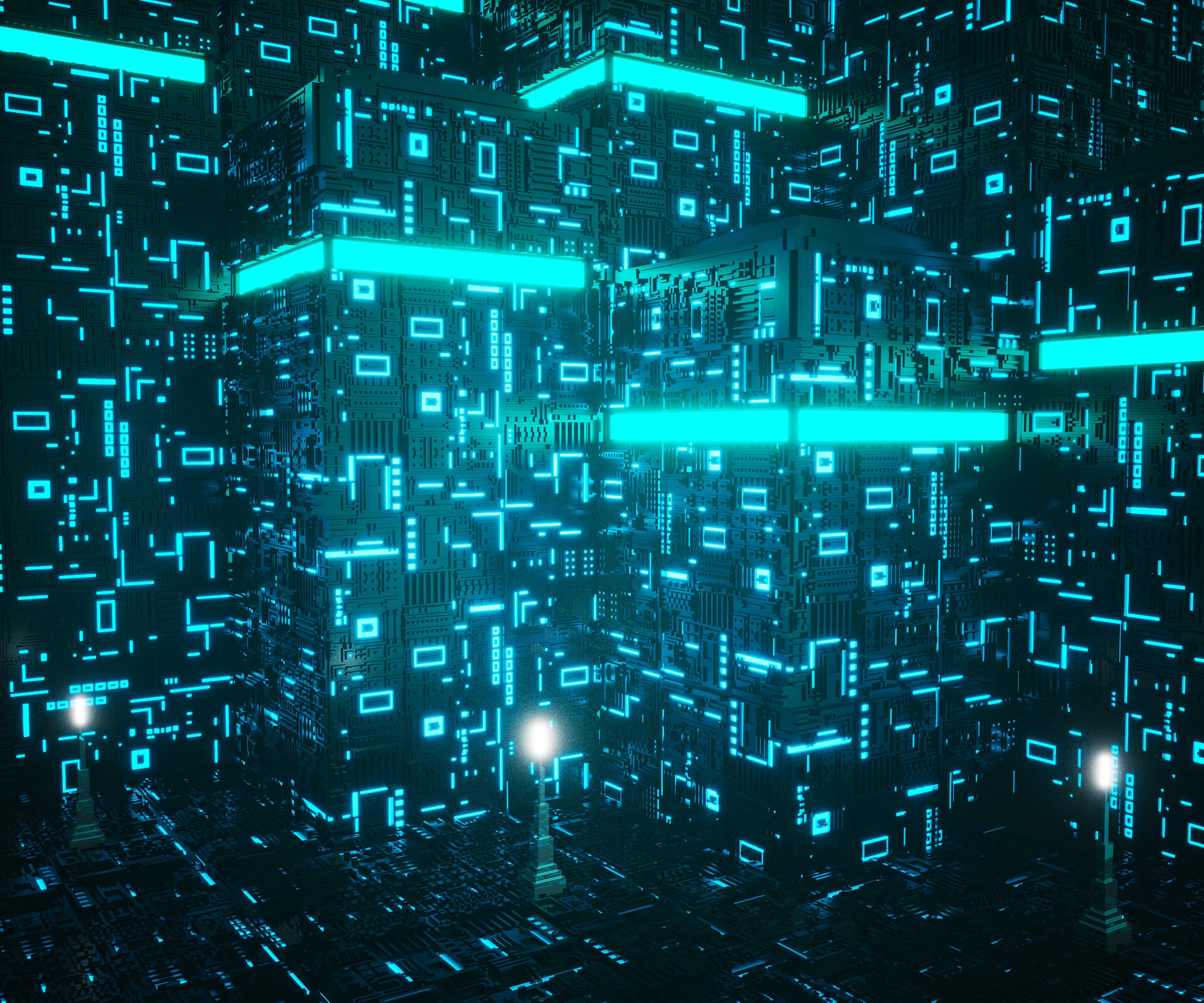 58008 Hintergrundbild herunterladen 3D, Form, Neon, Formen, Chip, Planen, Schema - Bildschirmschoner und Bilder kostenlos