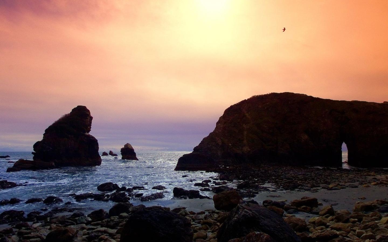 28682 скачать обои Пейзаж, Закат, Камни, Море - заставки и картинки бесплатно