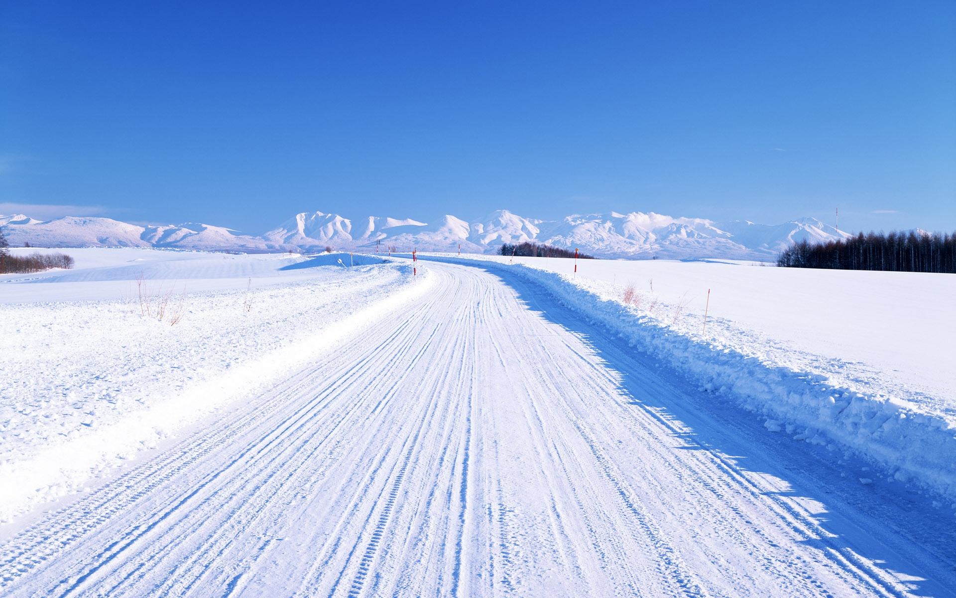 37793 скачать обои Пейзаж, Зима, Дороги - заставки и картинки бесплатно