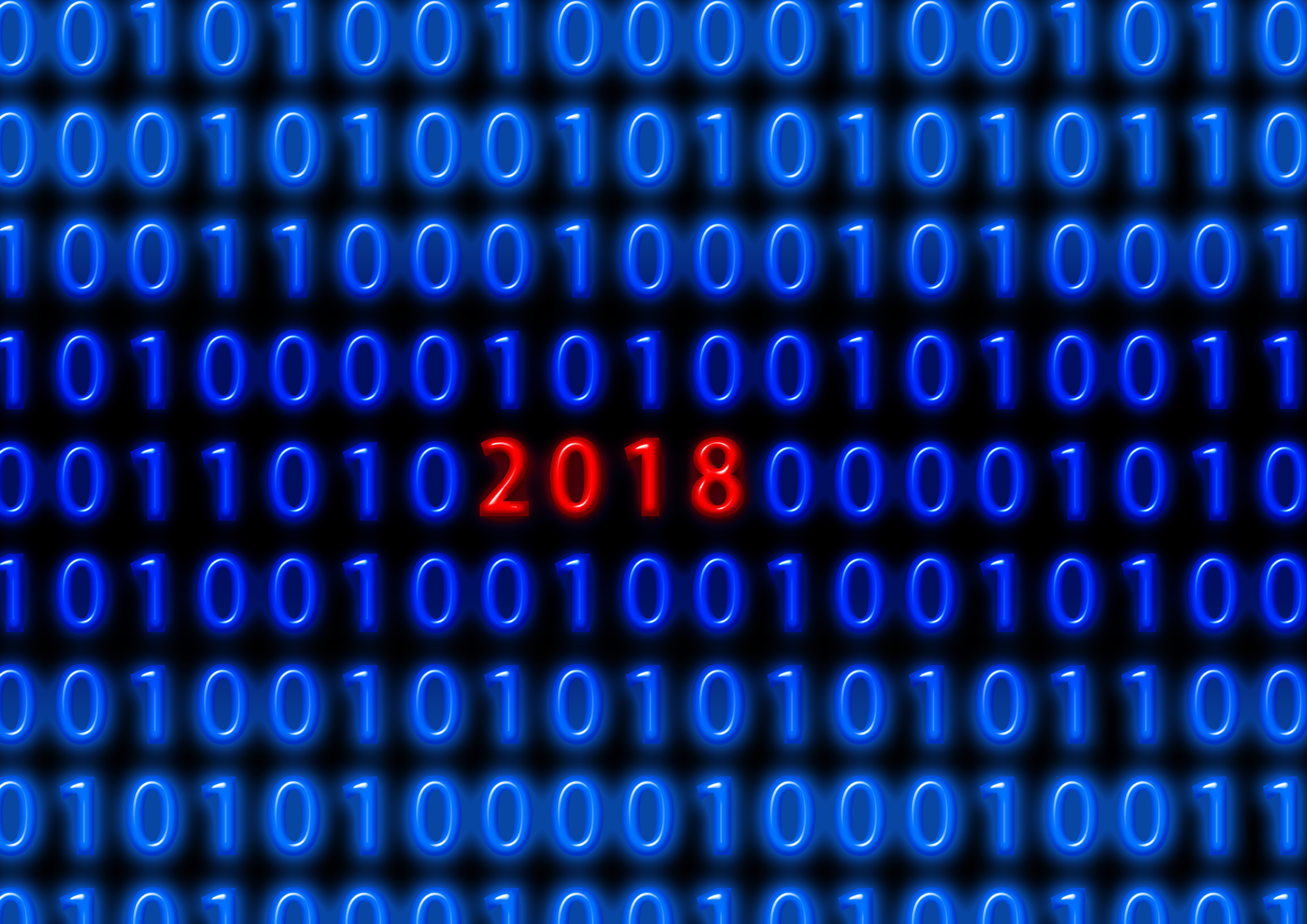 67668 Screensavers and Wallpapers Binary Code for phone. Download Holidays, New Year, 2018, Binary Code pictures for free