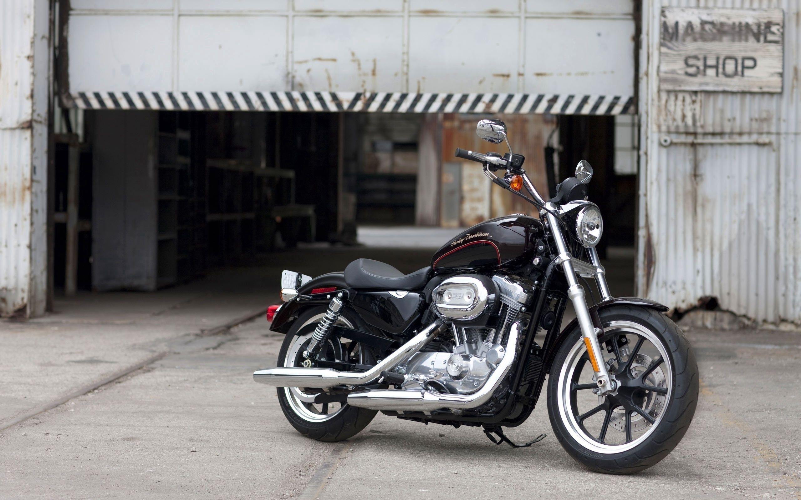 119457 скачать обои Мотоциклы, Harley-Davidson Xl 883, Super Low, Харлей, Чёрный - заставки и картинки бесплатно