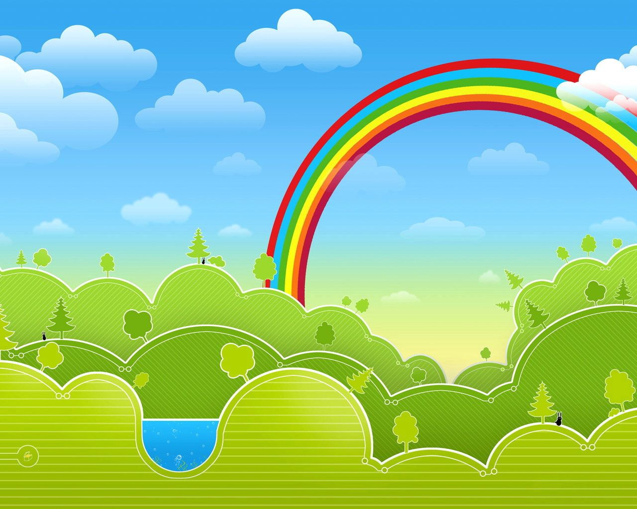 113213 download wallpaper Rainbow, Vector, Multicolored, Motley, Picture, Drawing screensavers and pictures for free
