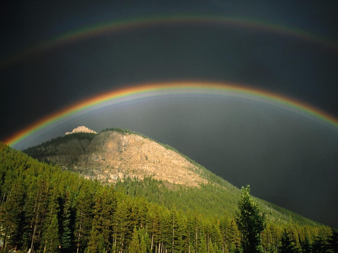 30622 免費下載壁紙 景观, 山, 彩虹 屏保和圖片